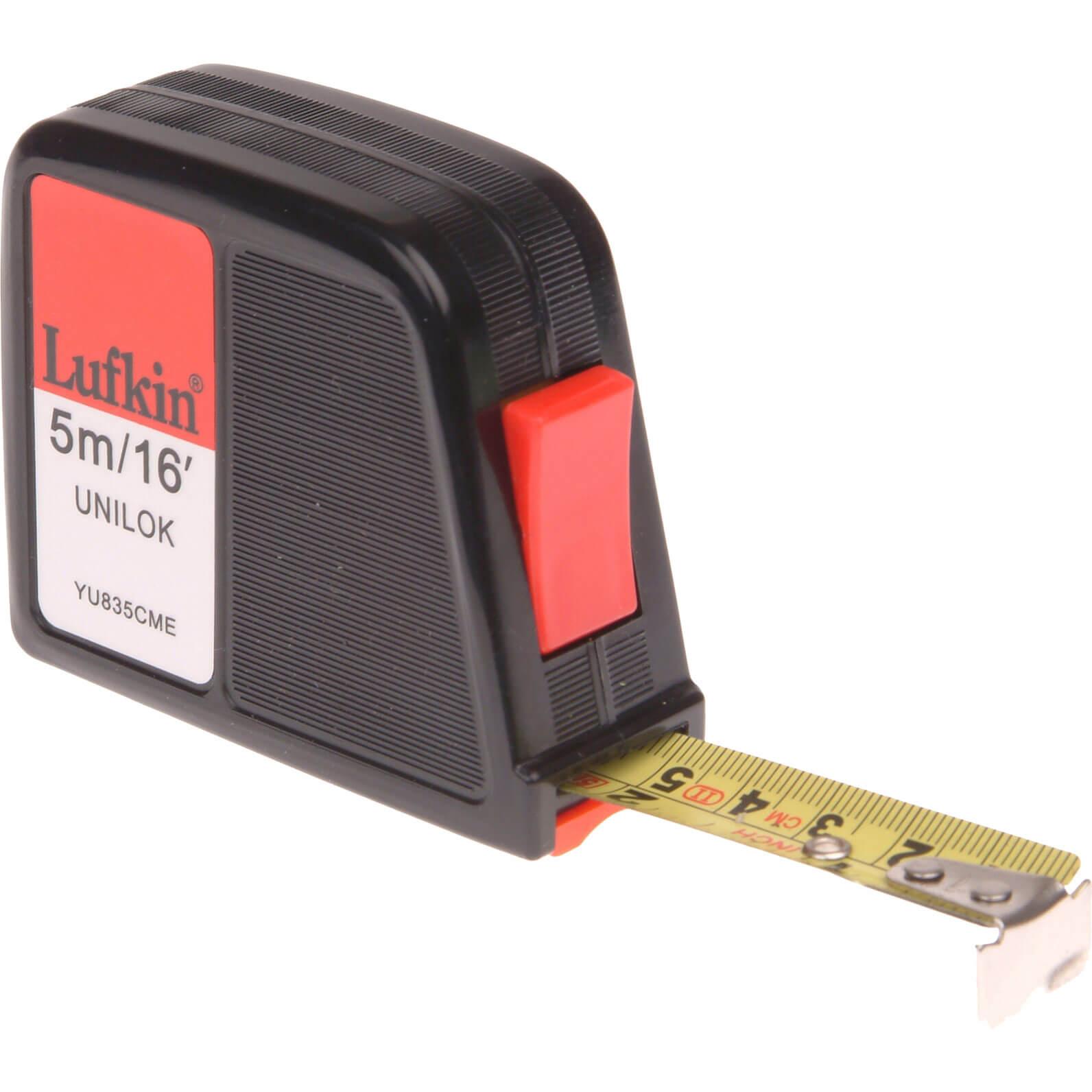 Image of Lufkin Unilok Tape Measure Imperial & Metric 16ft / 5m 19mm
