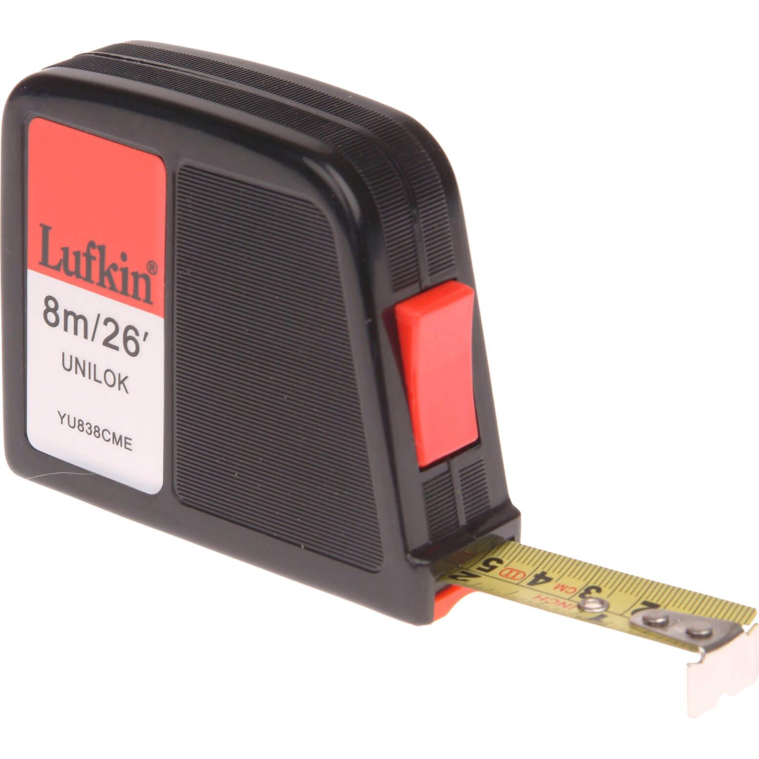 Image of Lufkin Unilok Tape Measure Imperial & Metric 26ft / 8m 19mm
