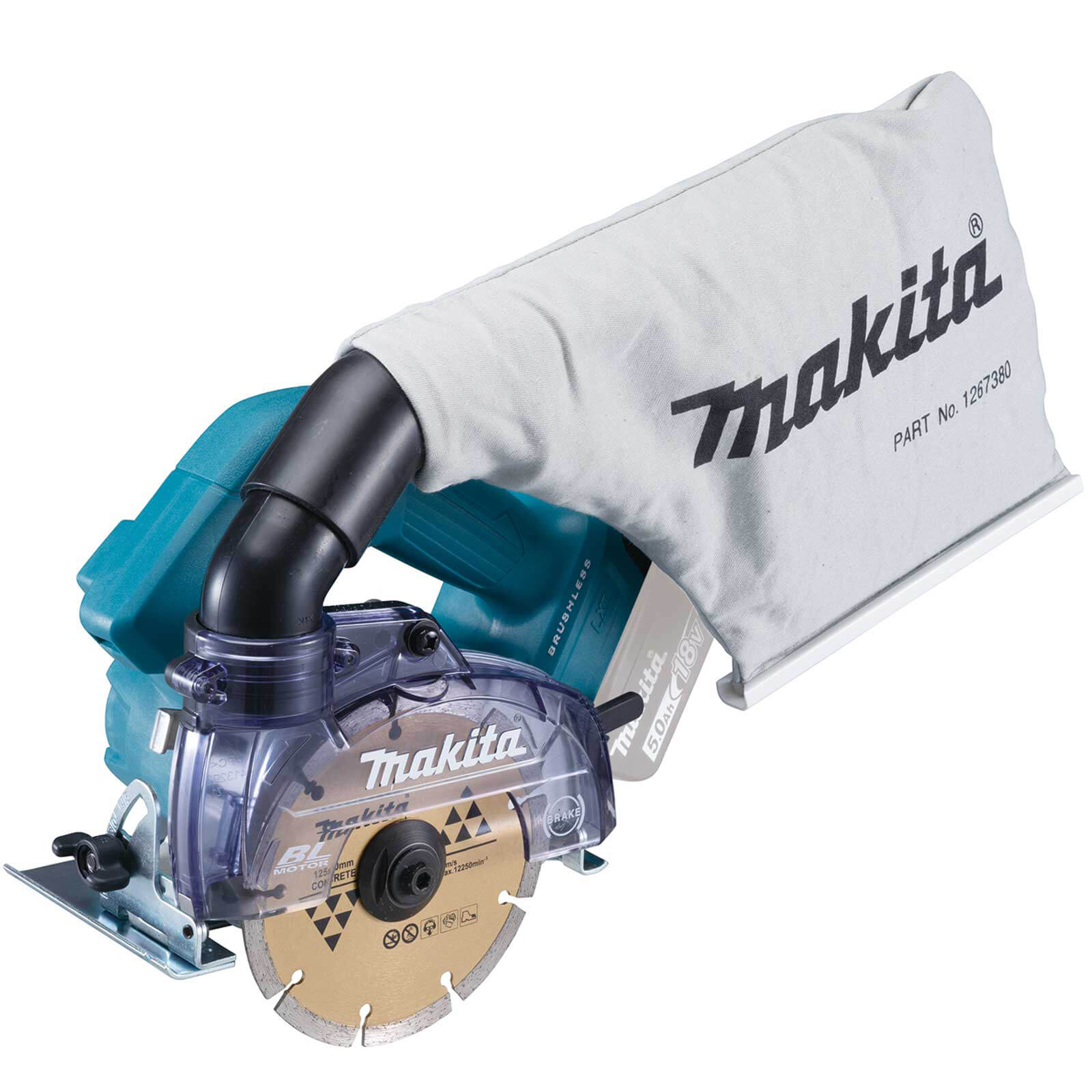 Makita DCC500 18v LXT Cordless Brushless Disc Cutter 125mm No Batteries No Charger No Case