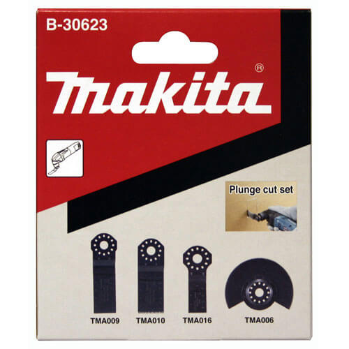 Image of Makita 4 Piece Plunge Cutting Oscillating Multi Tool Blade Set