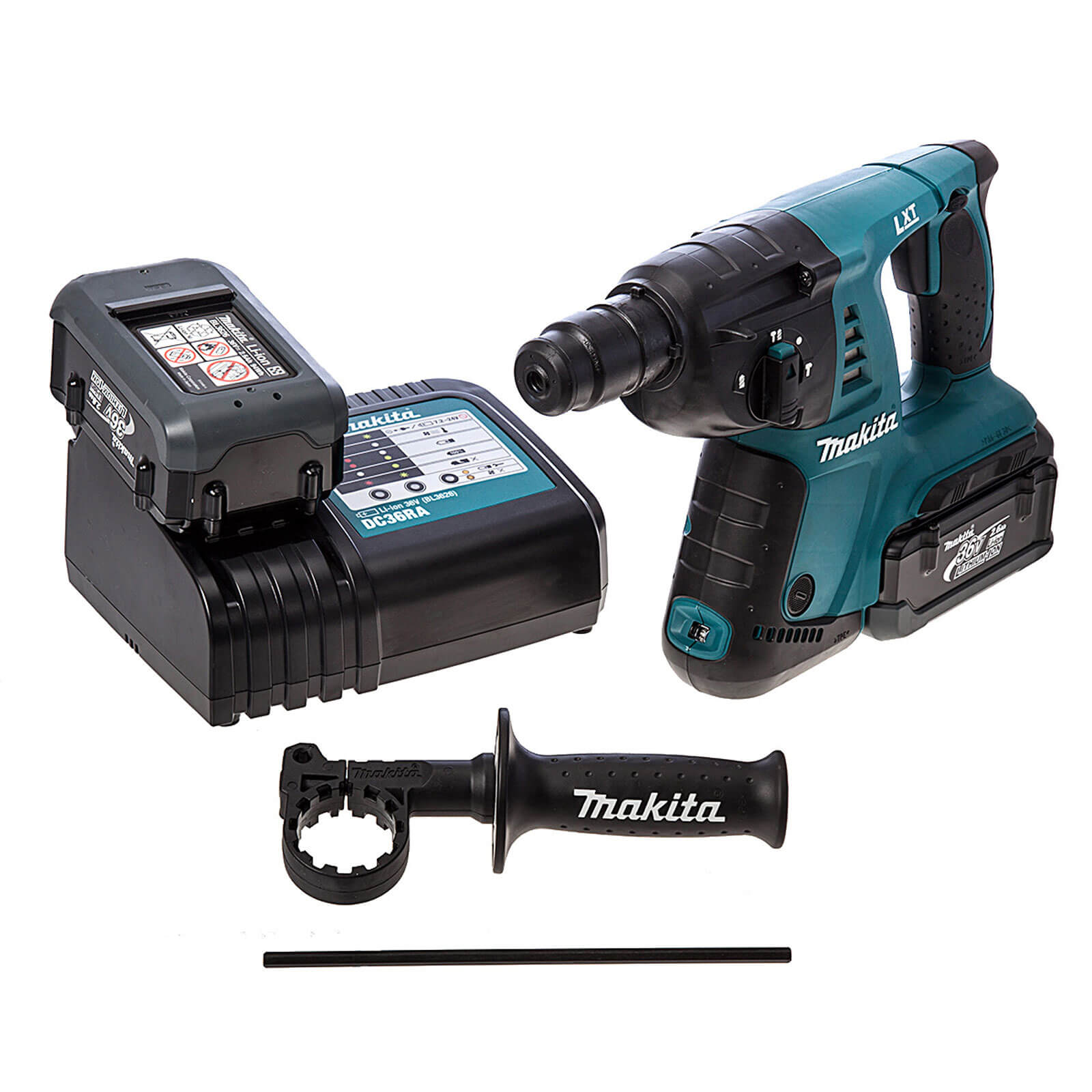 Image of Makita BHR262RDE 36v Cordless LXT SDS Hammer Drill 2 x 2.6ah Li-ion Charger Case