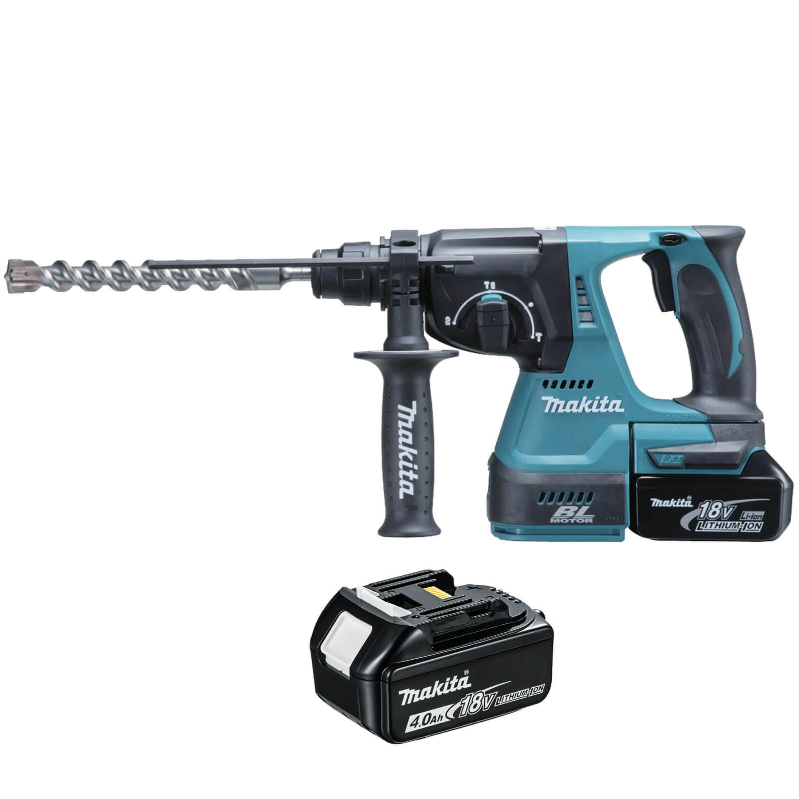 makita dhr243 18v cordless lxt brushless sds hammer drill 2 x 4ah li ion charger case. Black Bedroom Furniture Sets. Home Design Ideas