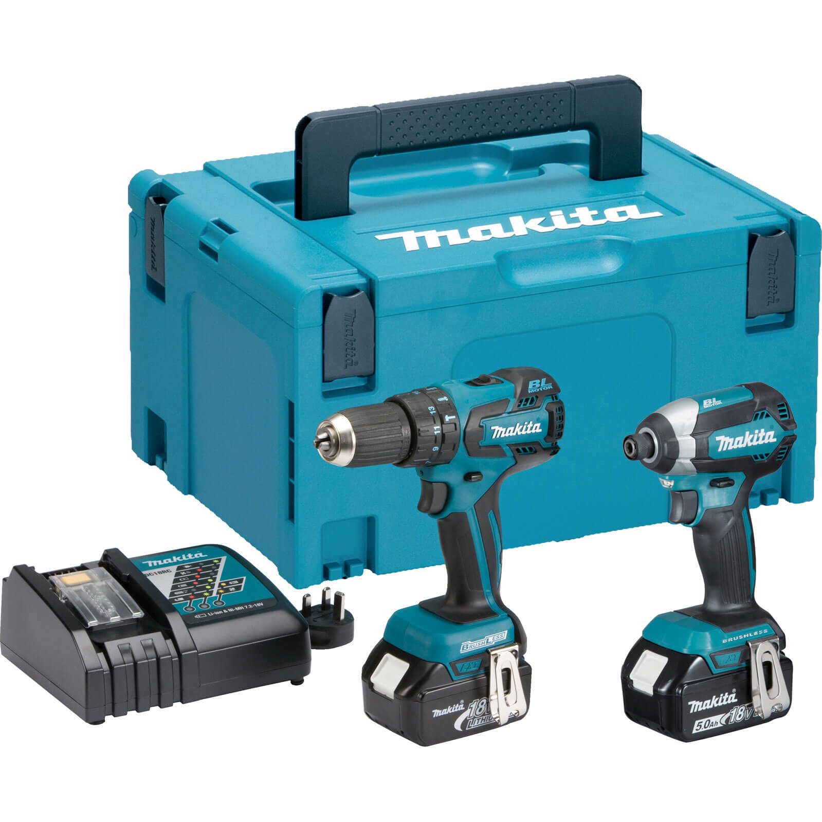 makita dlx2173 18v cordless lxt brushless combi drill impact driver kit. Black Bedroom Furniture Sets. Home Design Ideas