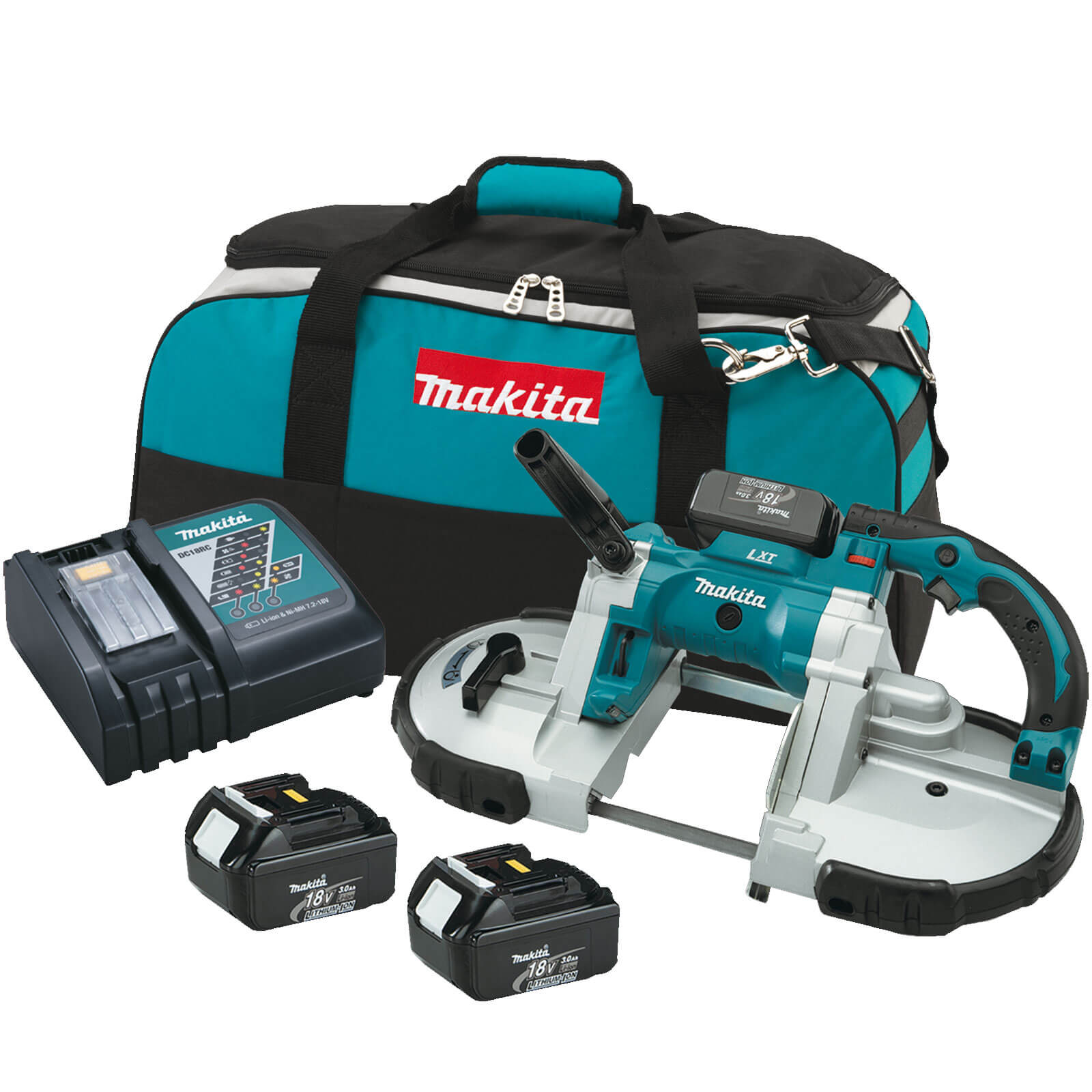 Makita DPB180 18v Cordless LXT Band Saw 2 x 4ah Li-ion Charger Case