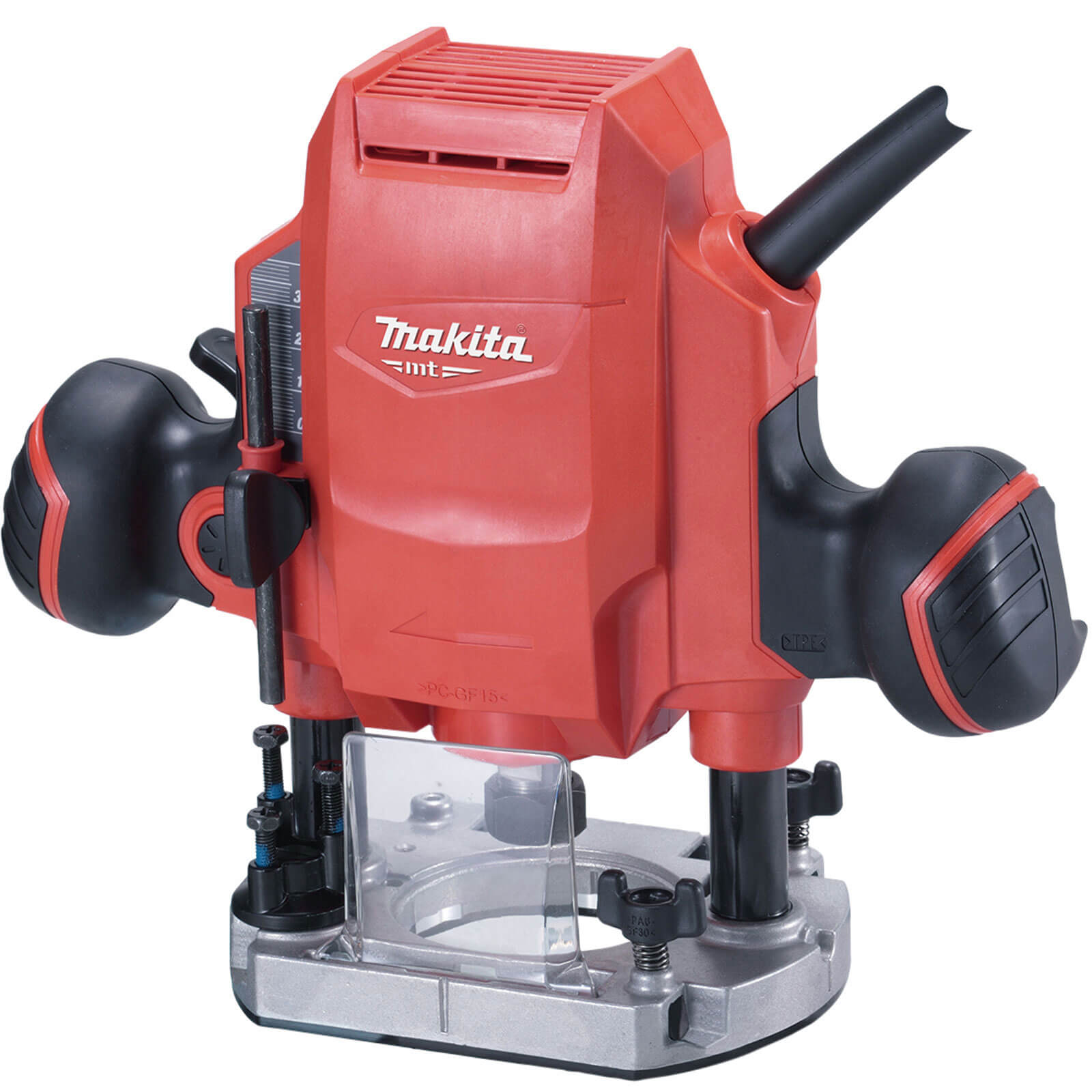 MAKITA MT Series M3601 Plunge Router - Red, Red