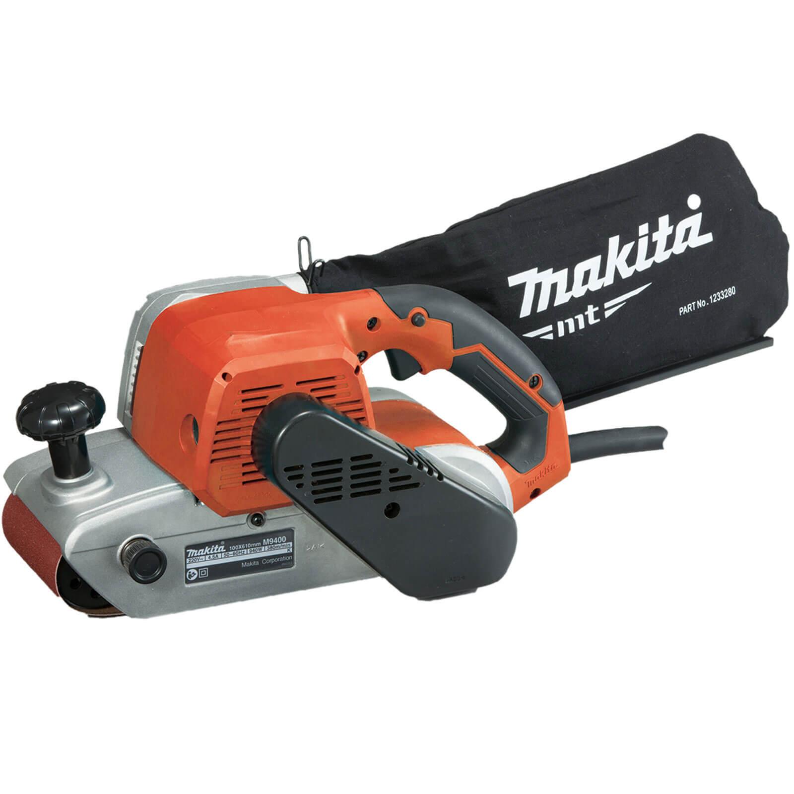 Image of Makita MT Series M9400 100mm Belt Sander 240v