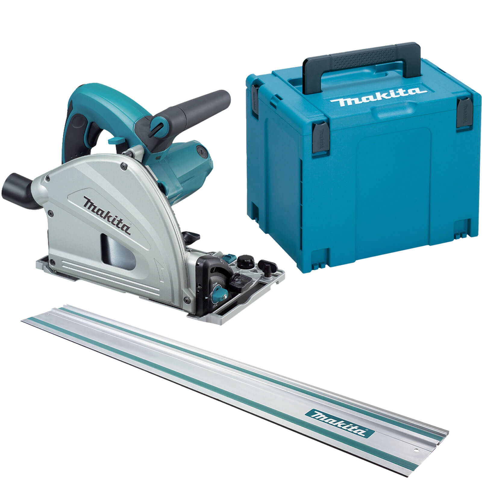 Makita Sp6000k1 Plunge Saw With 1400mm Guide Rail 240v