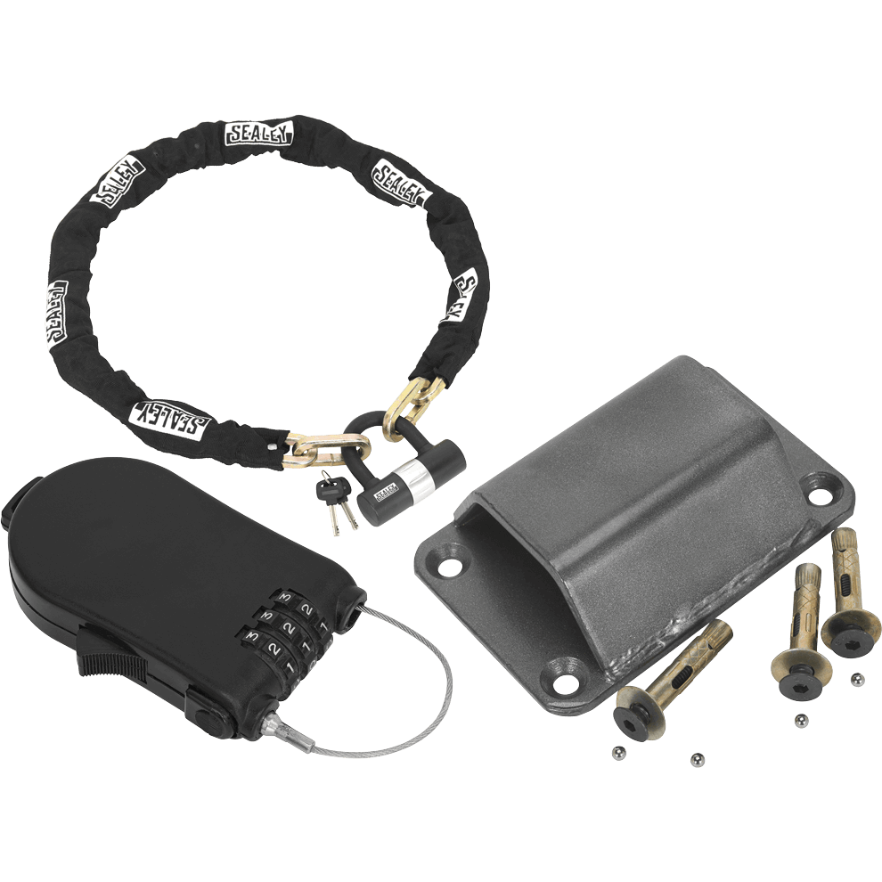 Sealey Motorcycle Ground Anchor and Security Lock Kit