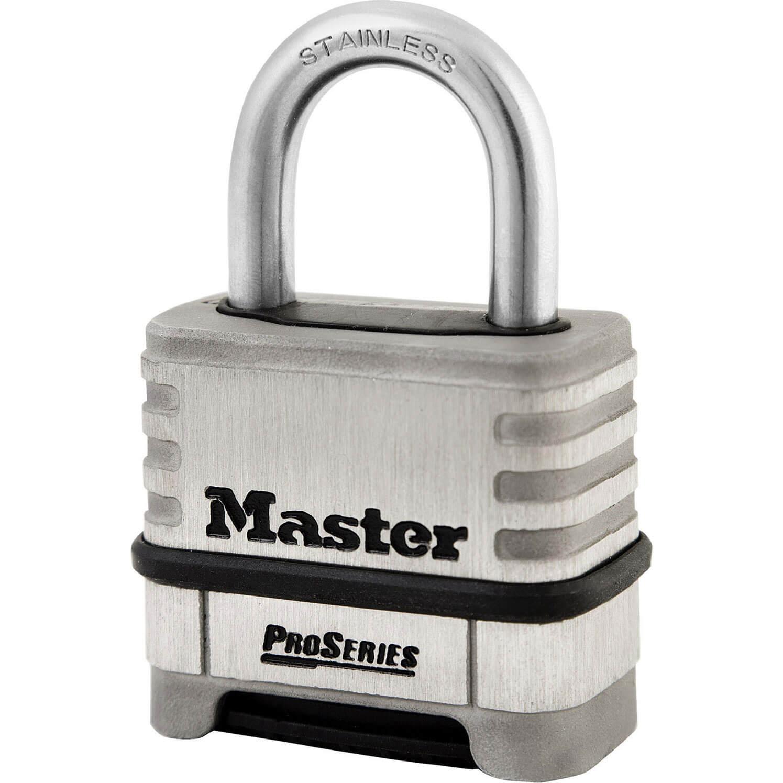 Masterlock Pro Series Stainless Steel Combination Padlock 57mm Standard