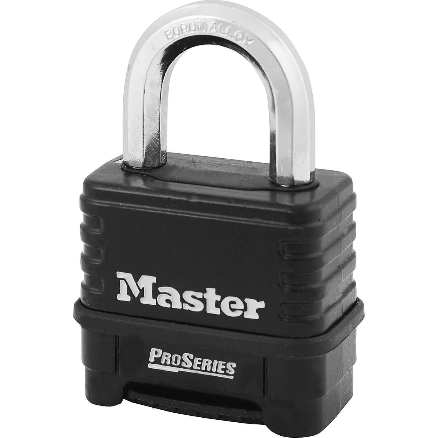 Masterlock Pro Series Die Cast Zinc Body Combination Padlock 57mm Standard