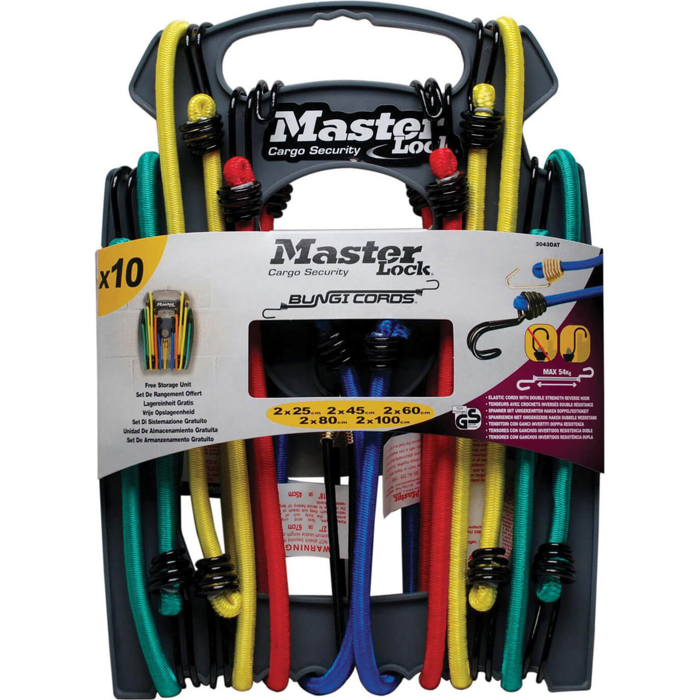 Image of Masterlock 10 Piece Assorted Bungee Cord