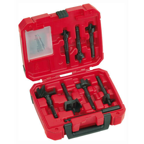 Image of Milwaukee 7 Piece Contractors Self Feed Wood Drill Bit Set