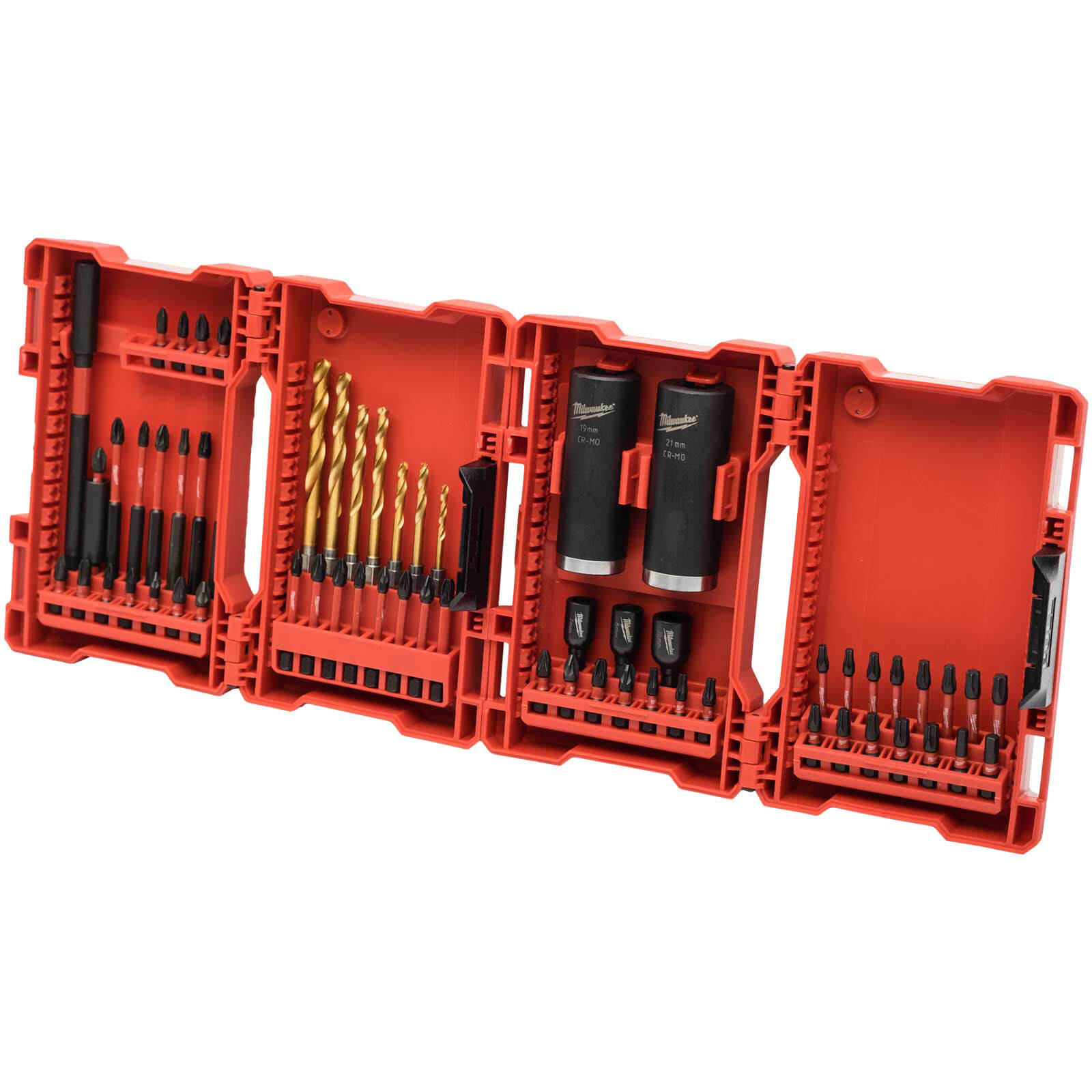 Image of Milwaukee 62 Piece Shockwave Impact Drill and Screwdriver Bit Set