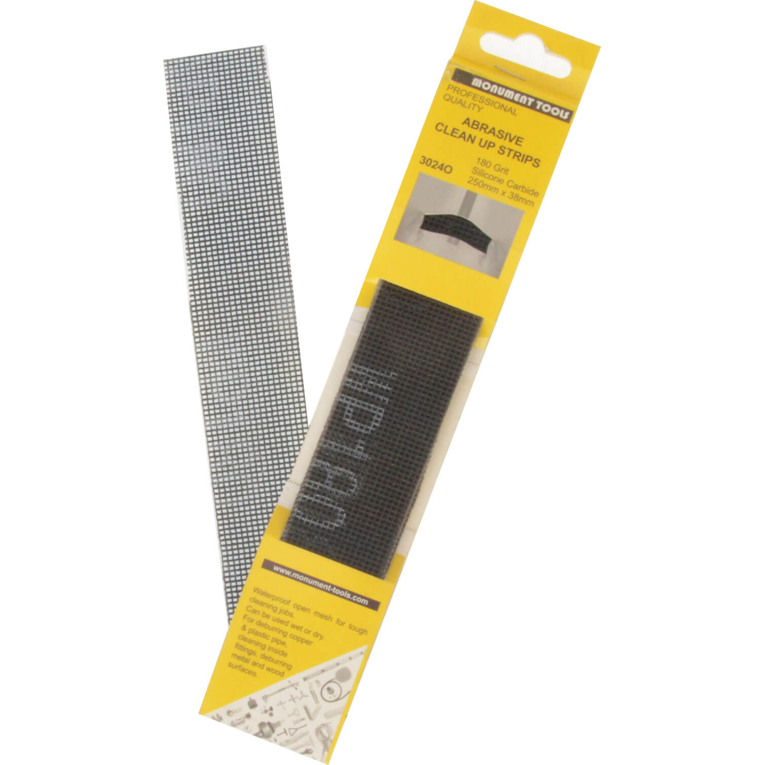 Image of Monument 3024 Abrasive Clean Up Strips Pack of 10