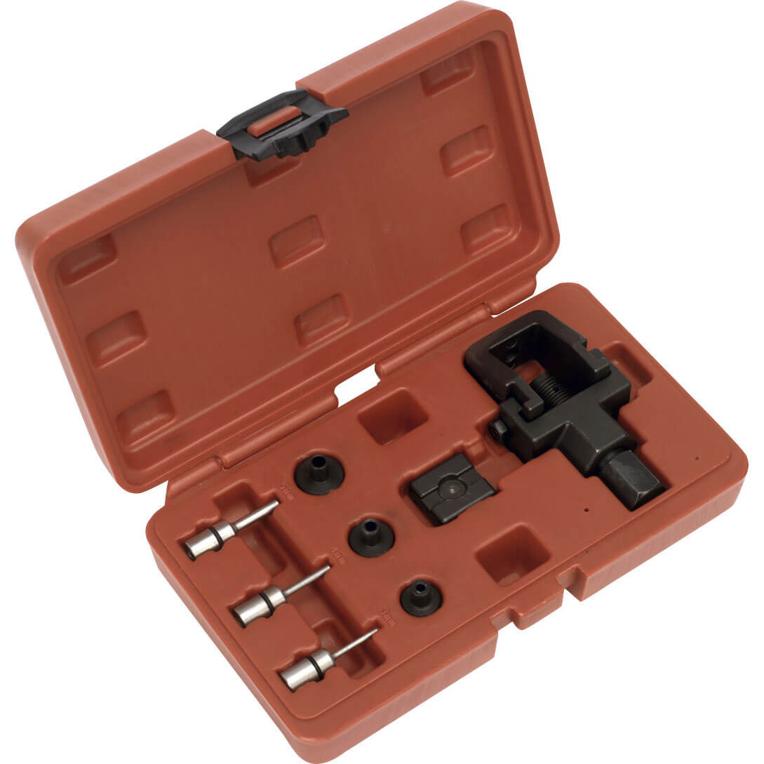 Image of Sealey Heavy Duty Motorcycle Chain Splitter & Riveting Tool Kit
