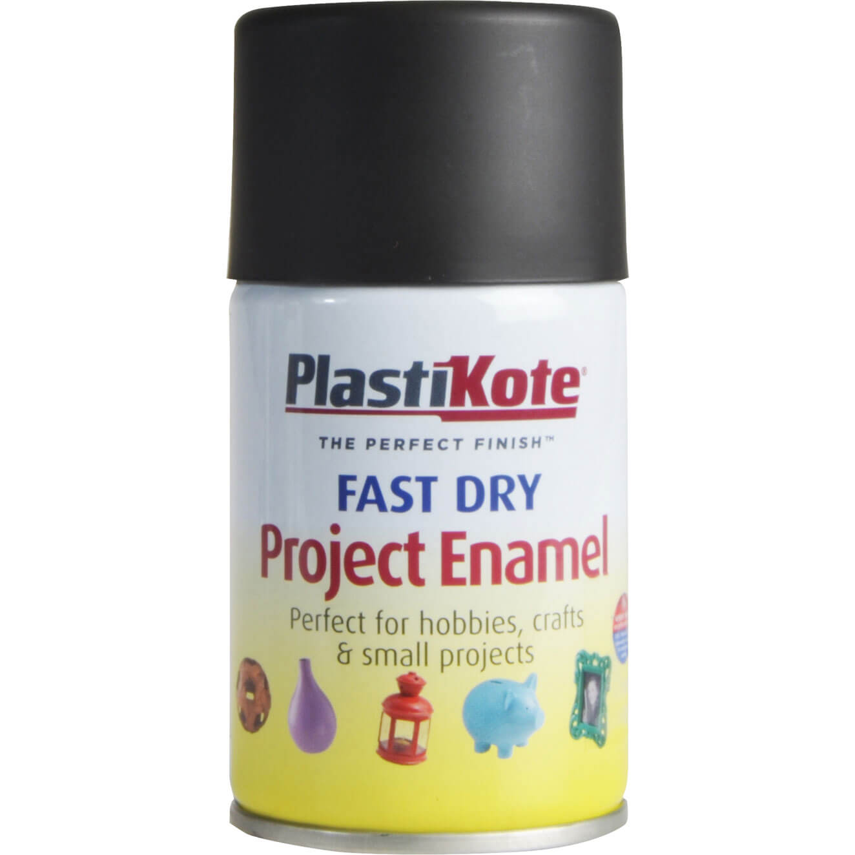 Image of Plastikote Dry Enamel Aerosol Spray Paint Black 100ml