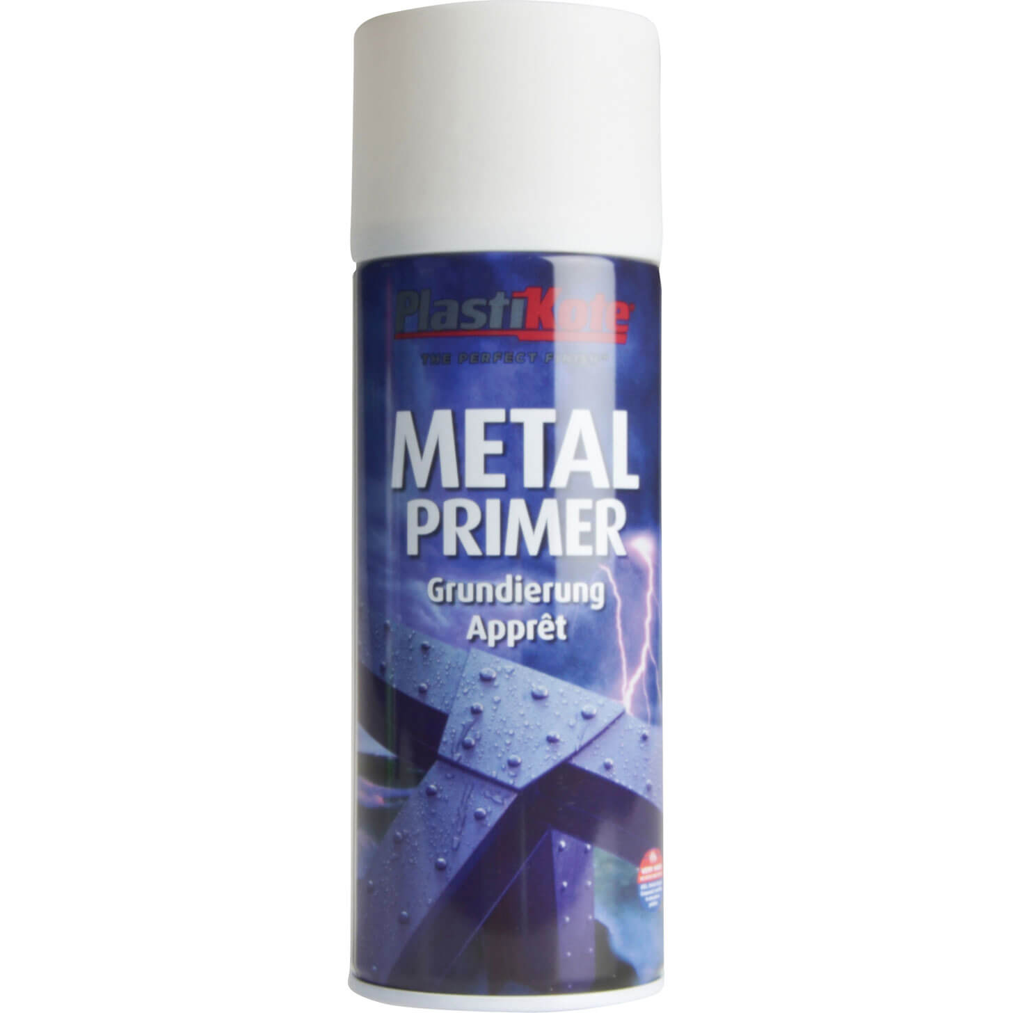 Plastikote Metal Primer Aerosol Spray Paint Red 400ml