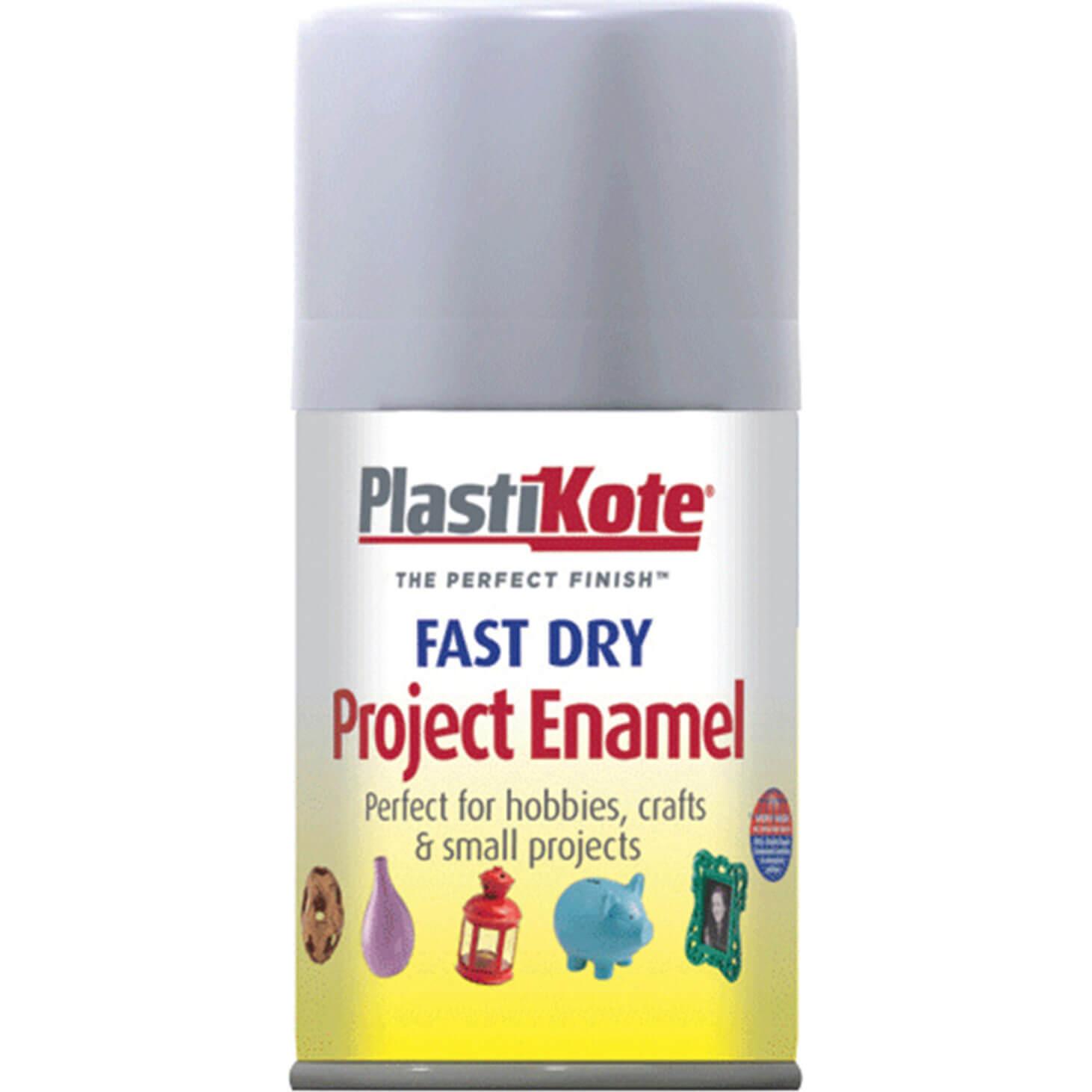 Image of Plastikote Dry Enamel Aerosol Spray Paint Aluminium 100ml
