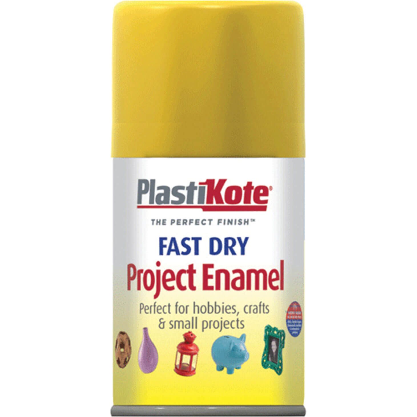 Image of Plastikote Dry Enamel Aerosol Spray Paint Buttercup Yellow 100ml
