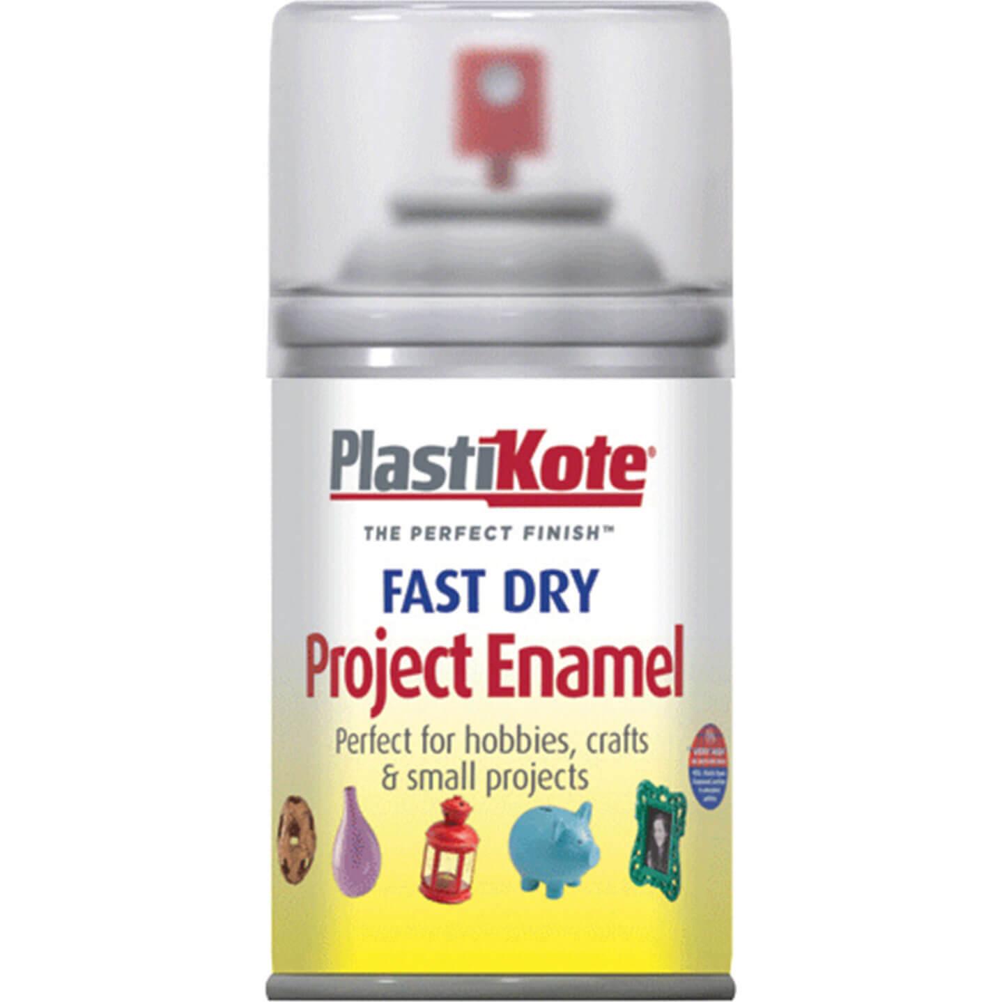 Image of Plastikote Dry Enamel Aerosol Spray Paint Clear 100ml
