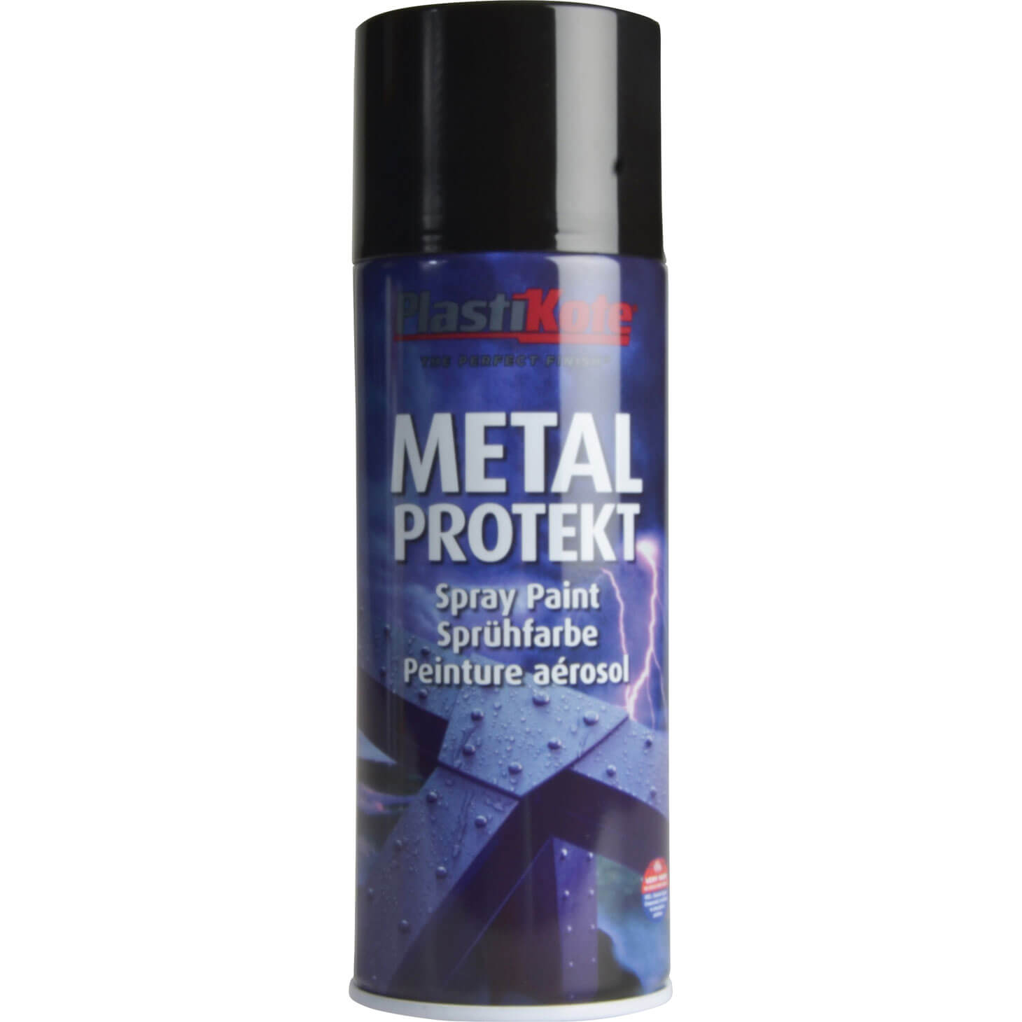 Plastikote metal protekt aerosol spray paint gloss black 400ml Black metal spray paint