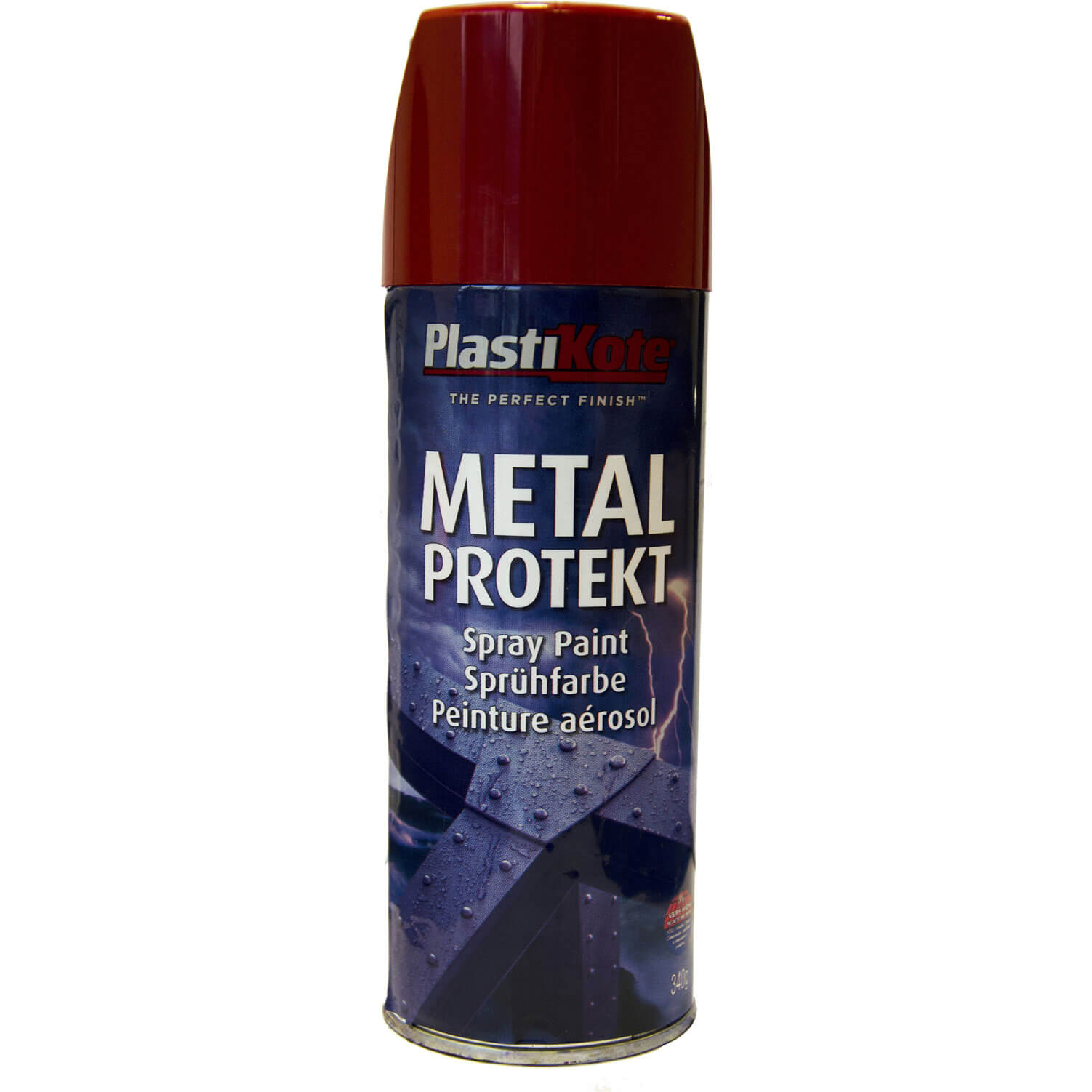 Plastikote Metal Protekt Aerosol Spray Paint Red 400ml
