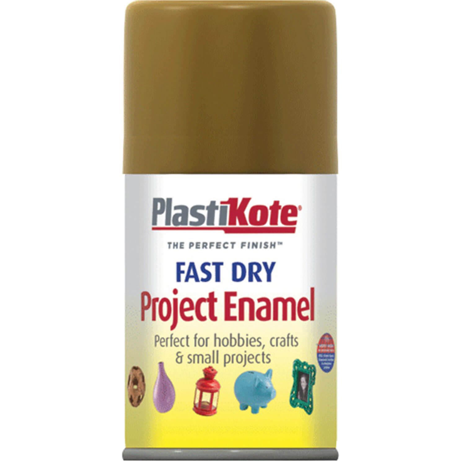Image of Plastikote Dry Enamel Aerosol Spray Paint Anitque Gold 100ml