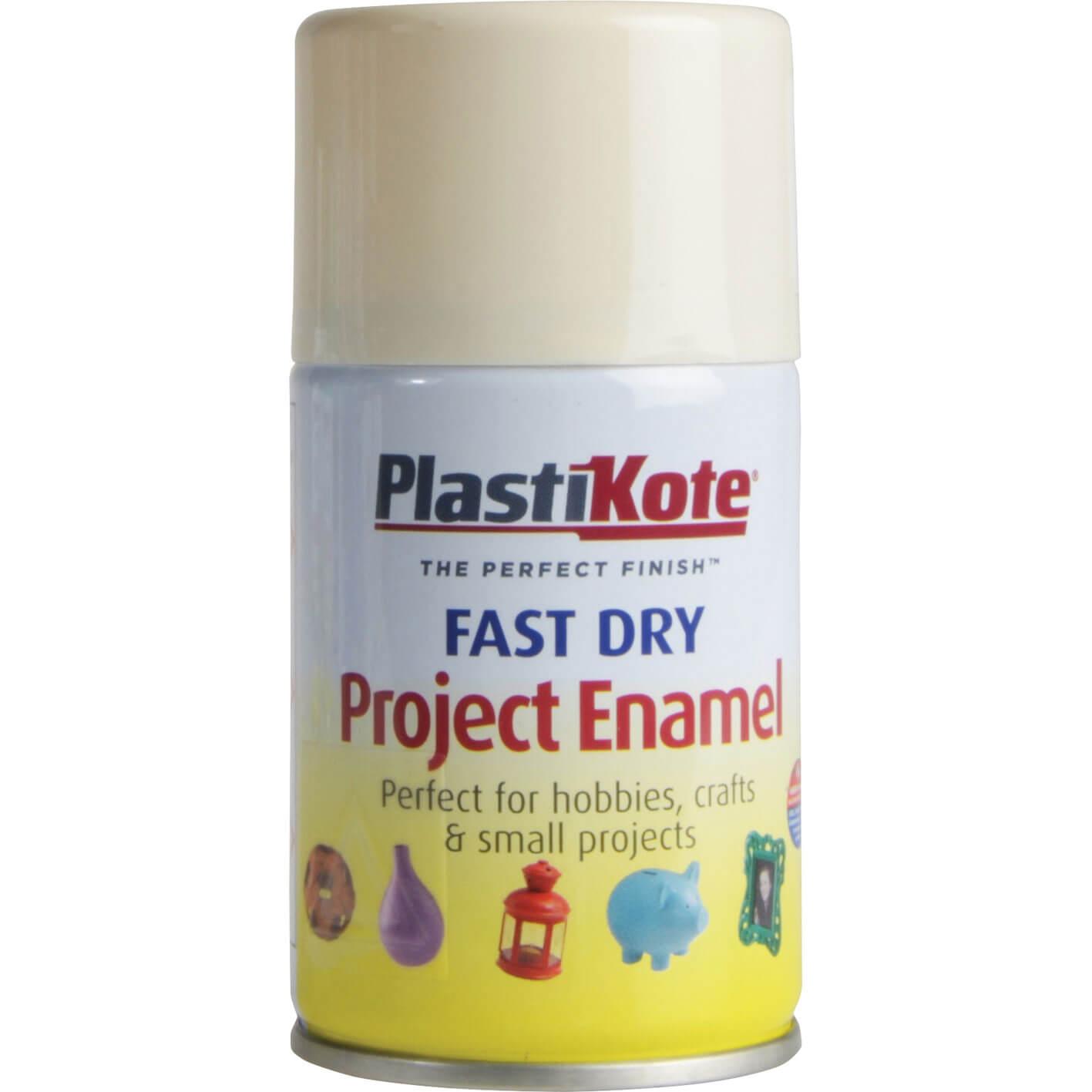 Image of Plastikote Dry Enamel Aerosol Spray Paint De La Creme 100ml