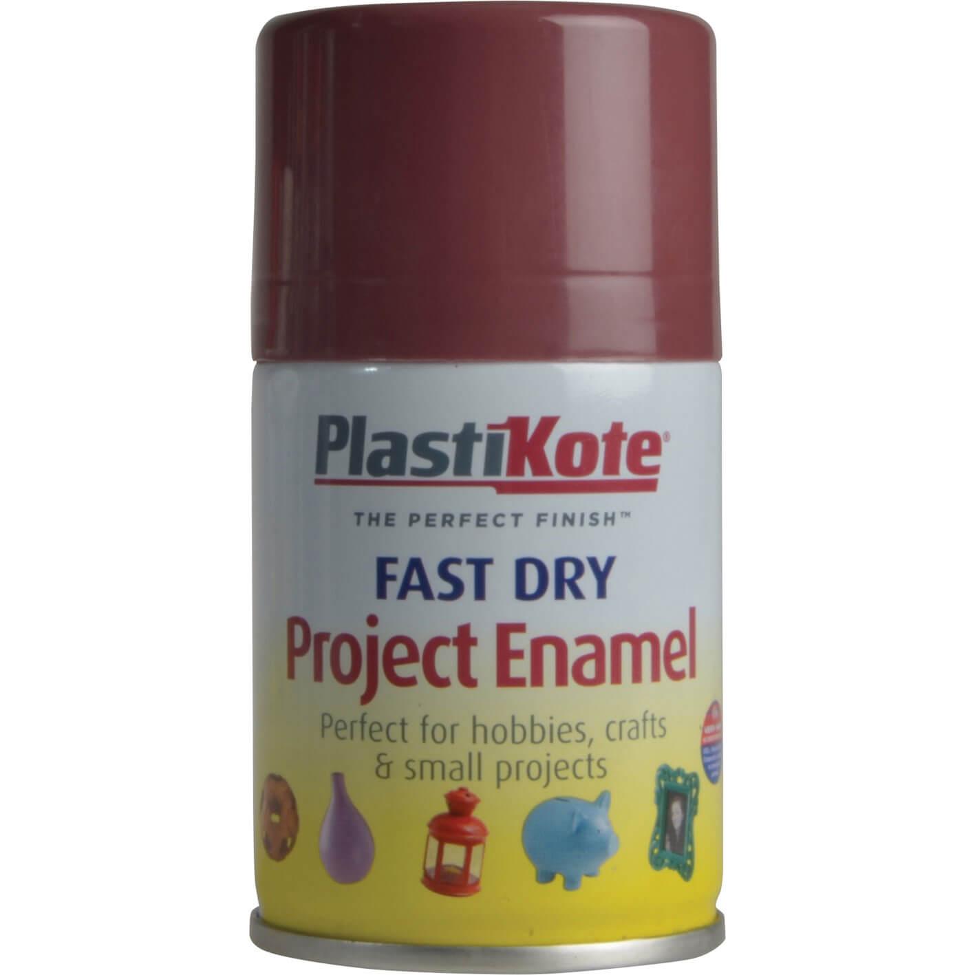 Image of Plastikote Dry Enamel Aerosol Spray Paint Aubergine 100ml
