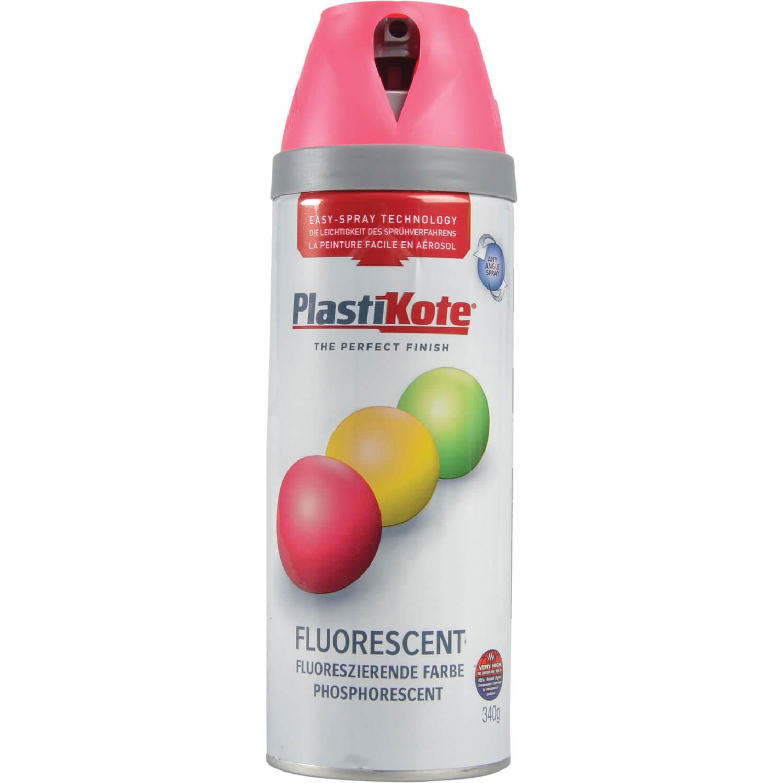 Image of Plastikote Twist & Spray Fluorescent Aerosol Spray Paint Pink 400ml