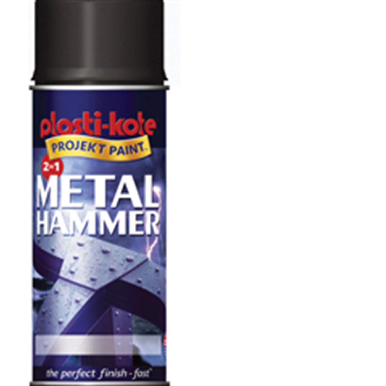 Image of Plastikote Metal Paint Hammer Aerosol Spray Paint Silver 400ml