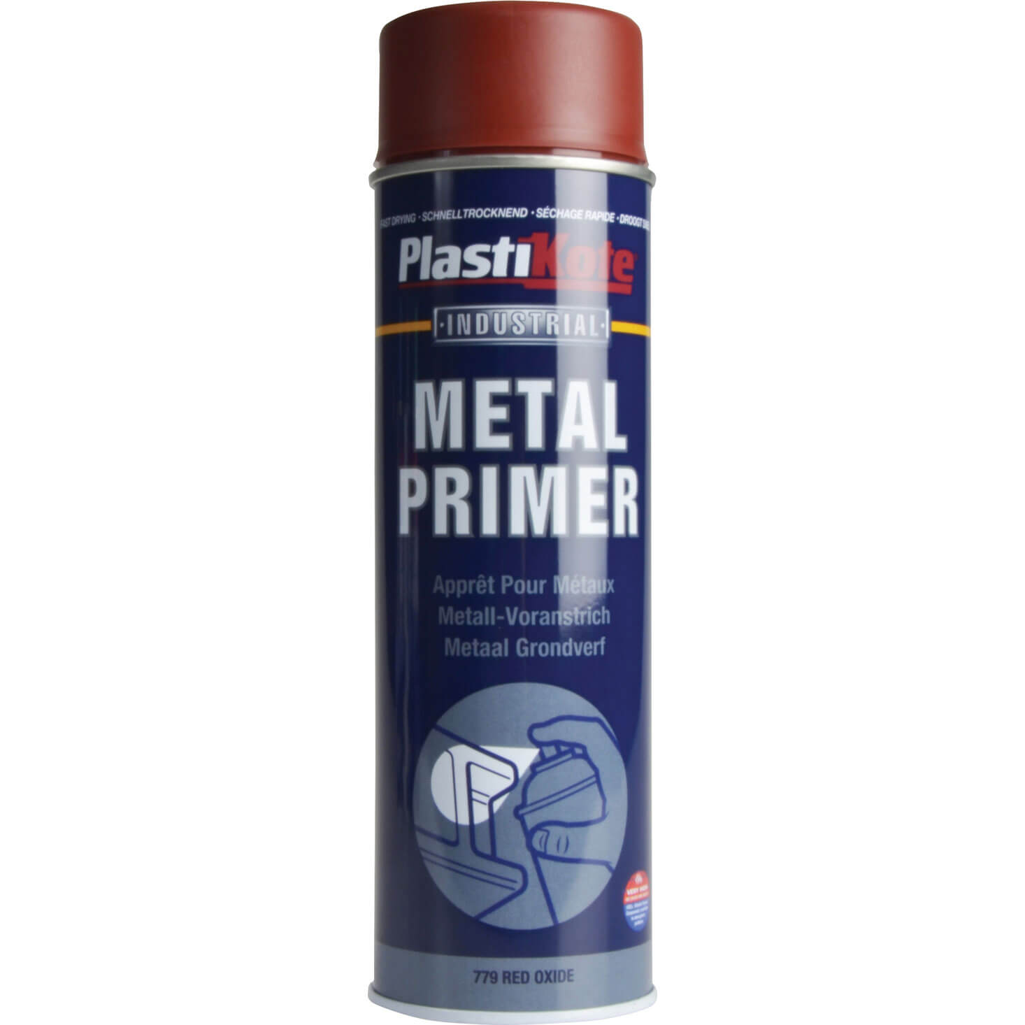 Plastikote Industrial Primer Aerosol Spray Paint Red 500ml London Community