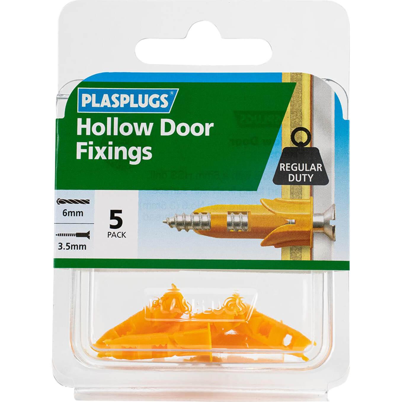 Image of Plasplugs Hollow Door Fixings Pack of 5