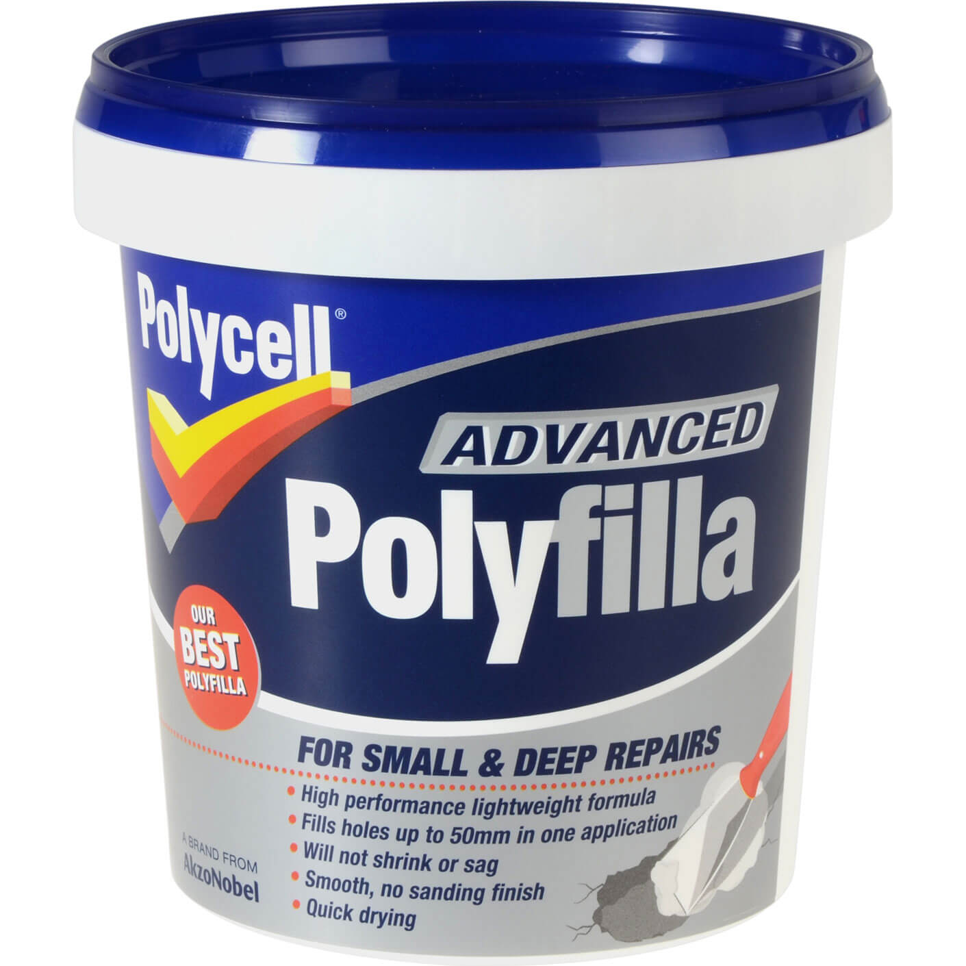 Image of Polycell Advanced Polyfilla 600ml