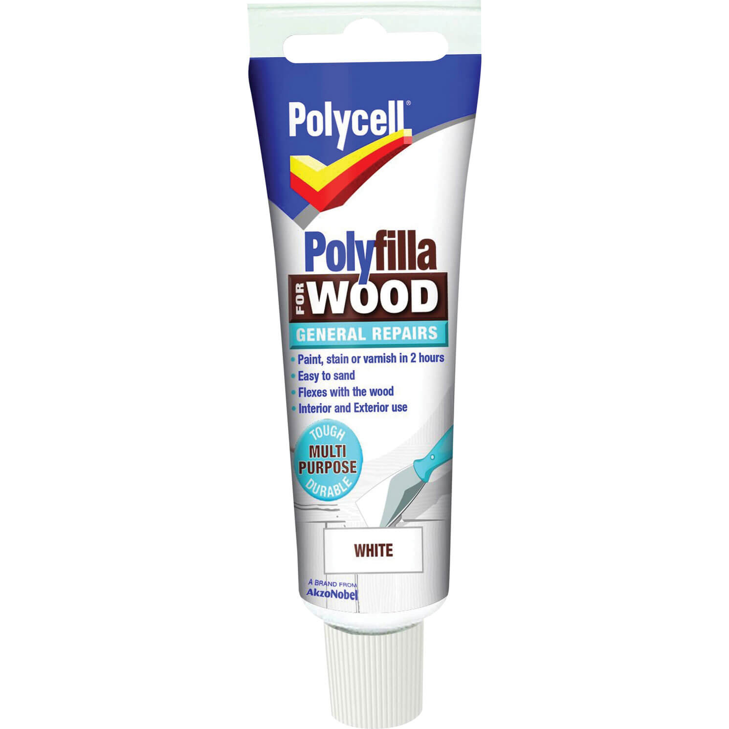 Polycell Polyfilla for Wood General Repairs White 75g