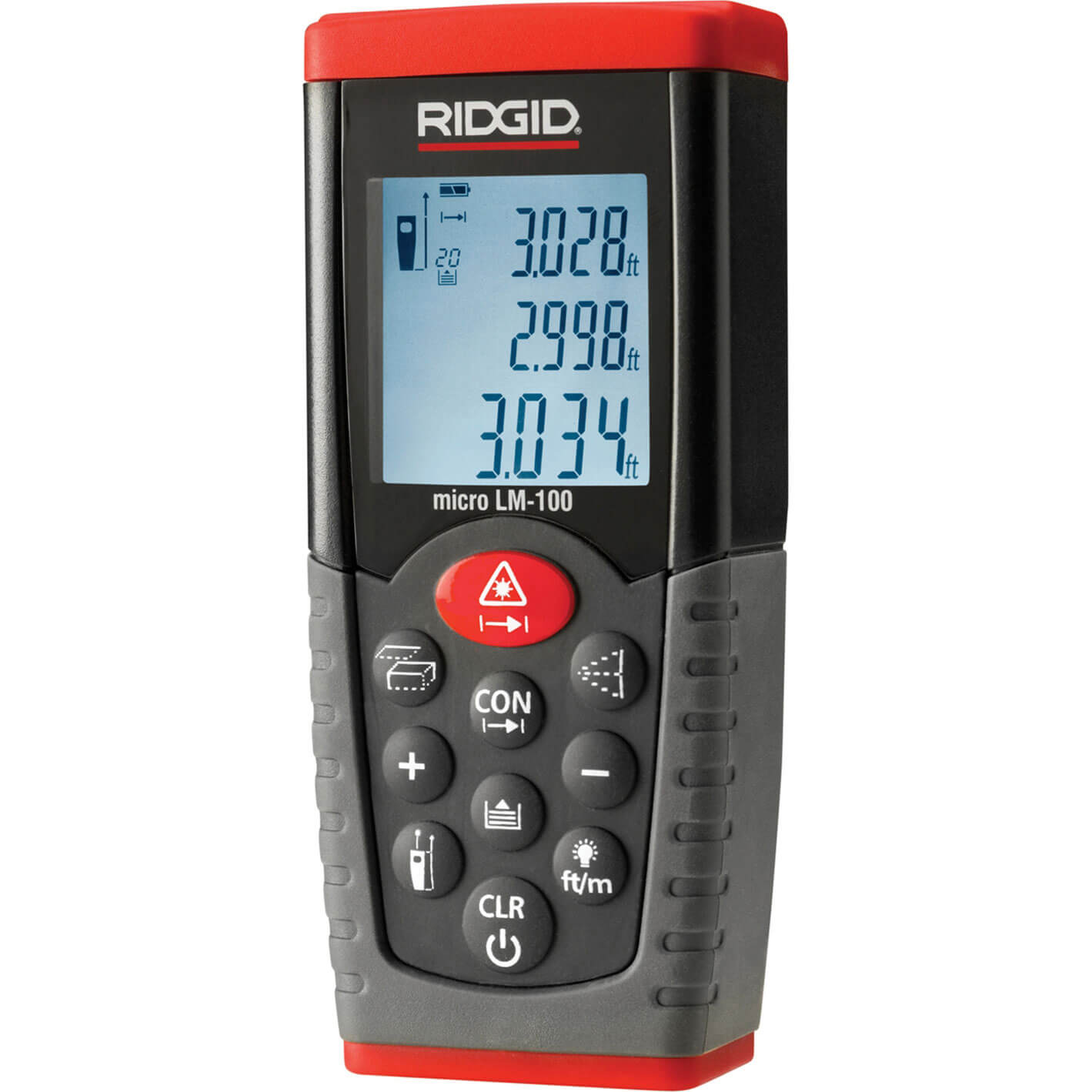 Ridgid Micro LM-100 Distance Laser Measurer 50m Range 50m / 164ft
