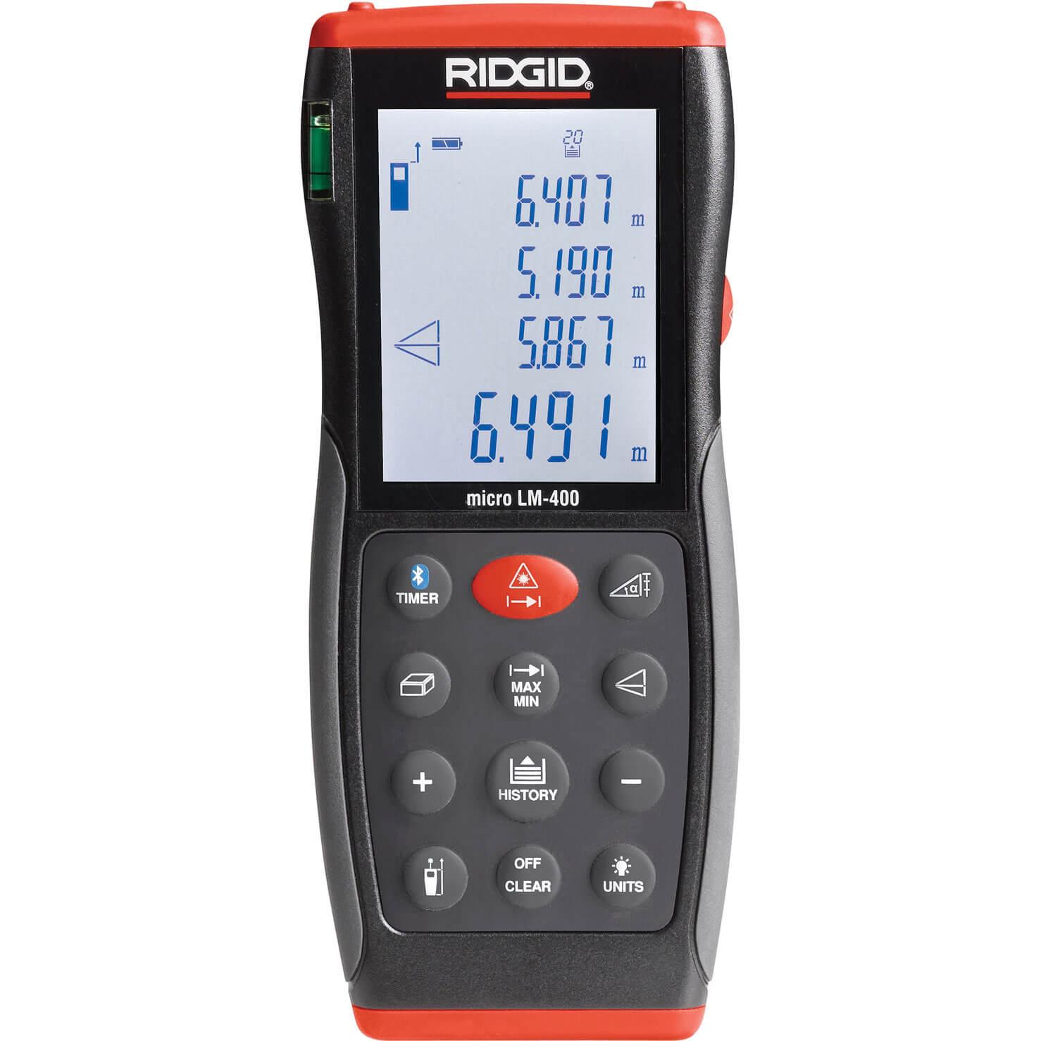Ridgid Micro LM400 Advanced Distance Laser Measure 70m Range 70m / 229ft