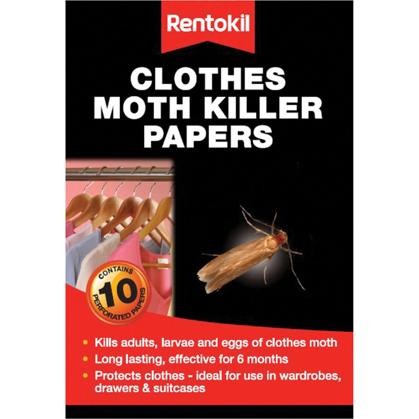 Image of Rentokil Clothes Moth Papers Pack of 10