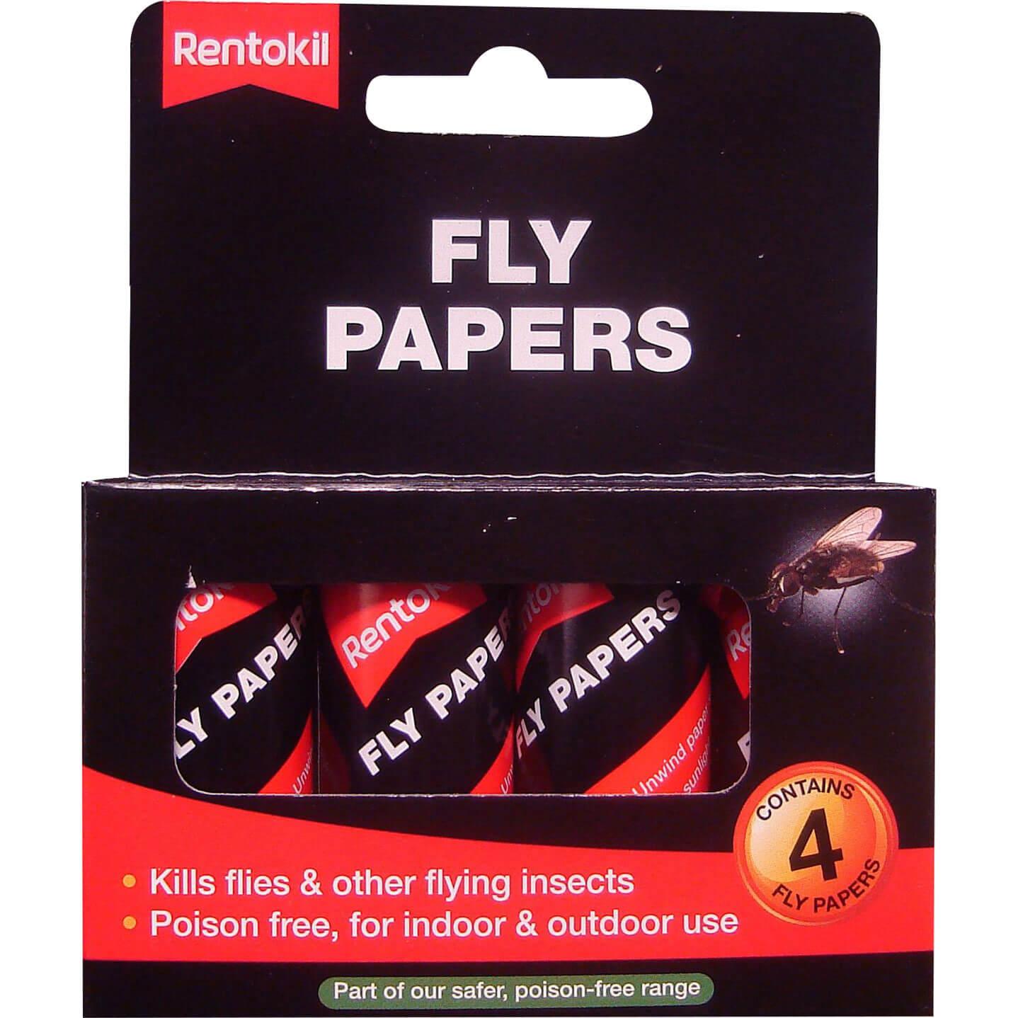 Image of Rentokil Flypapers Pack of 4