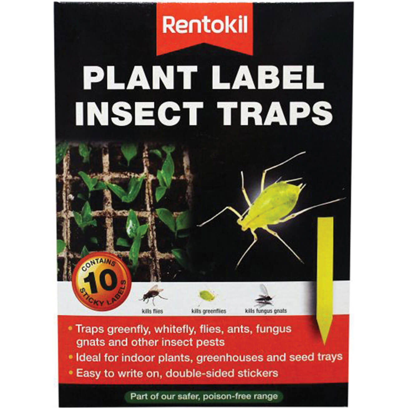 Image of Rentokil Plant Label Insect Traps Pack of 10