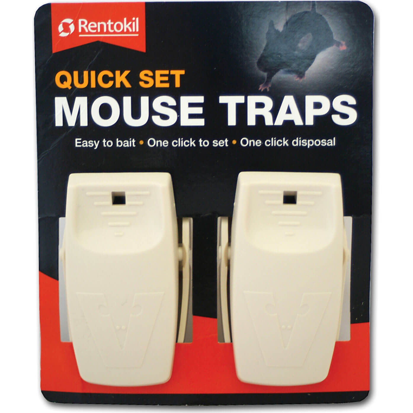 Image of Rentokil Quick Set Mouse Traps Pack of 2