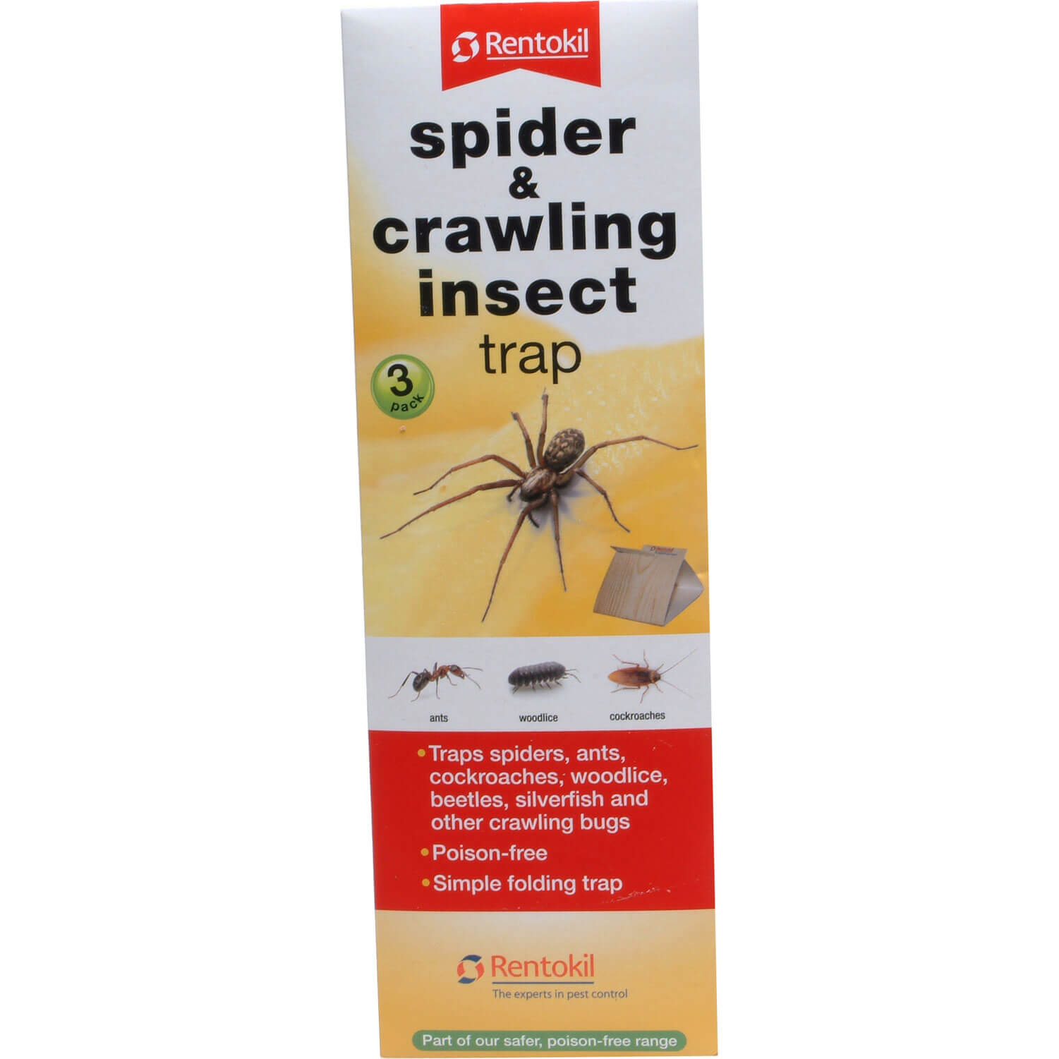 Image of Rentokil Spider and Crawling Insect Trap Pack of 3