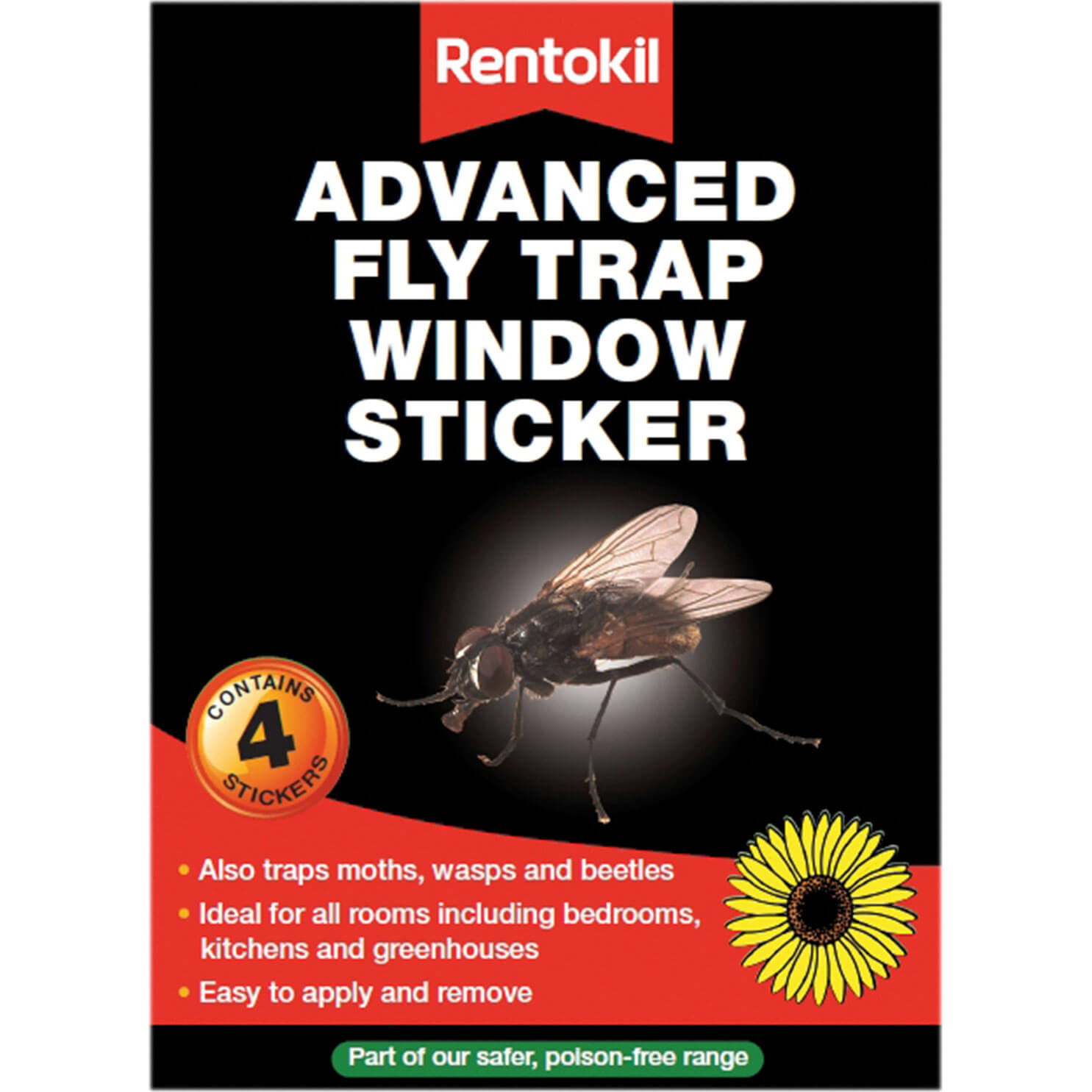Image of Rentokil Advanced Window Fly Traps Pack of 4