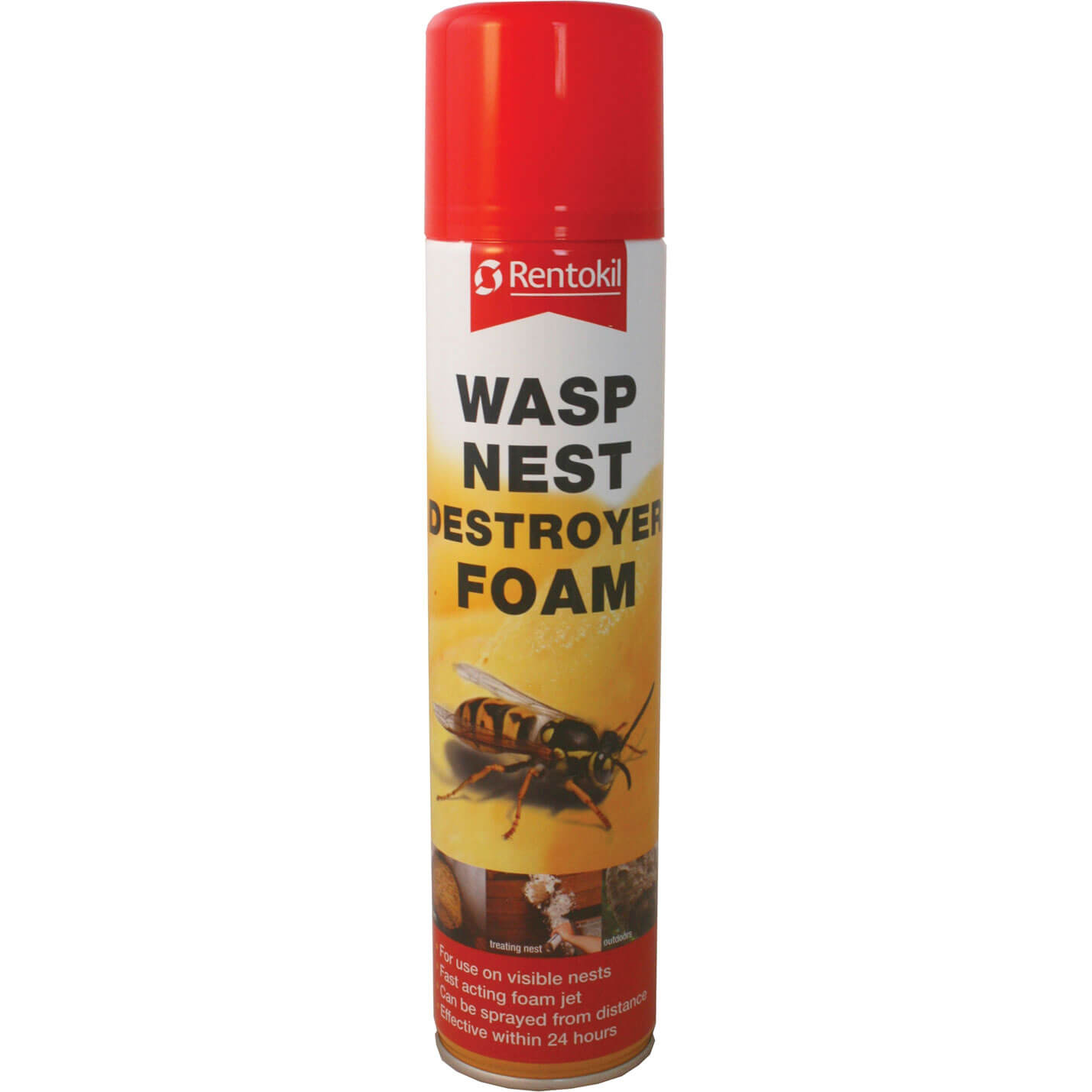 Image of Rentokil Wasp Destroy Foam Aerosol 300ml