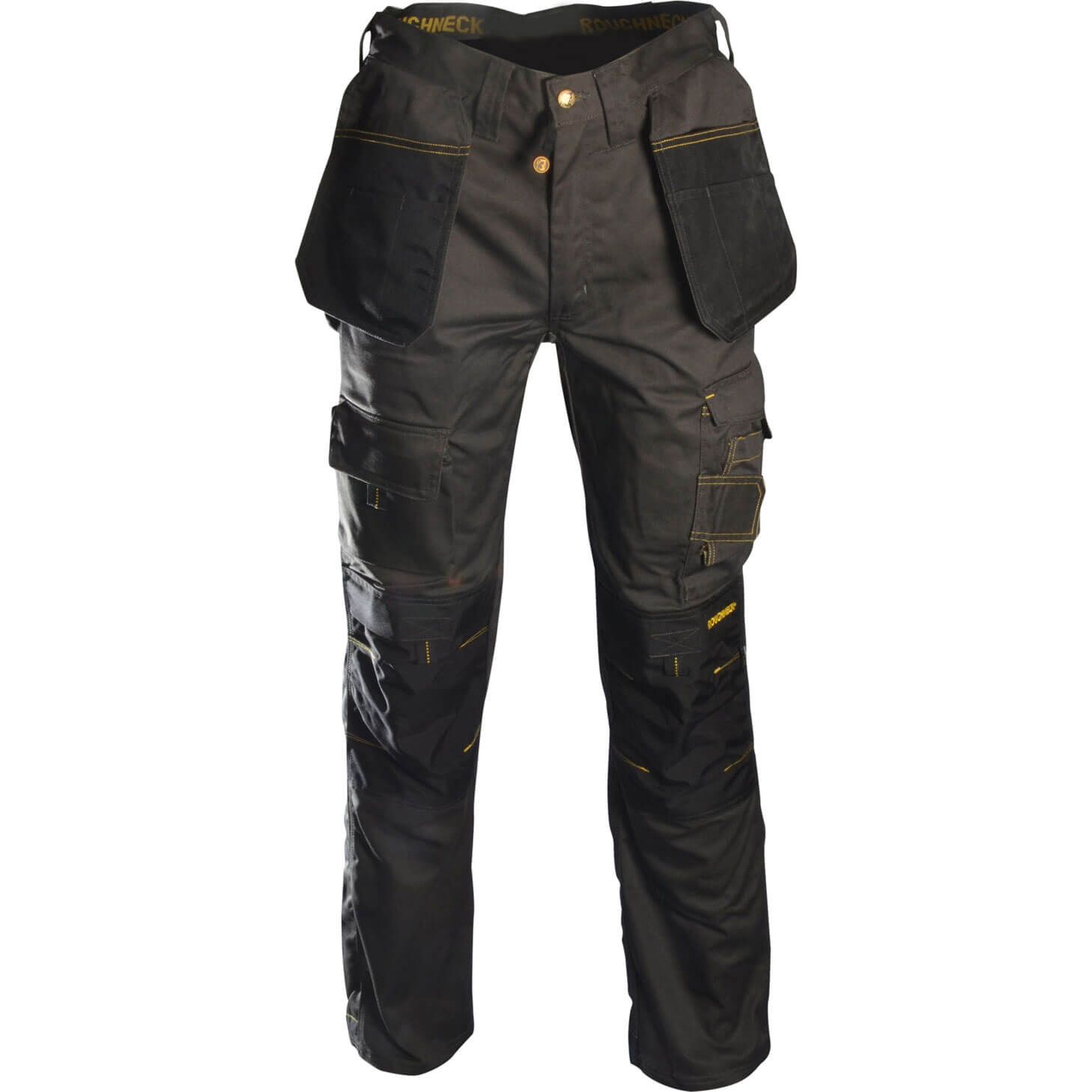 """Roughneck Mens Holster Trousers Black / Grey 30"""" 31"""""""