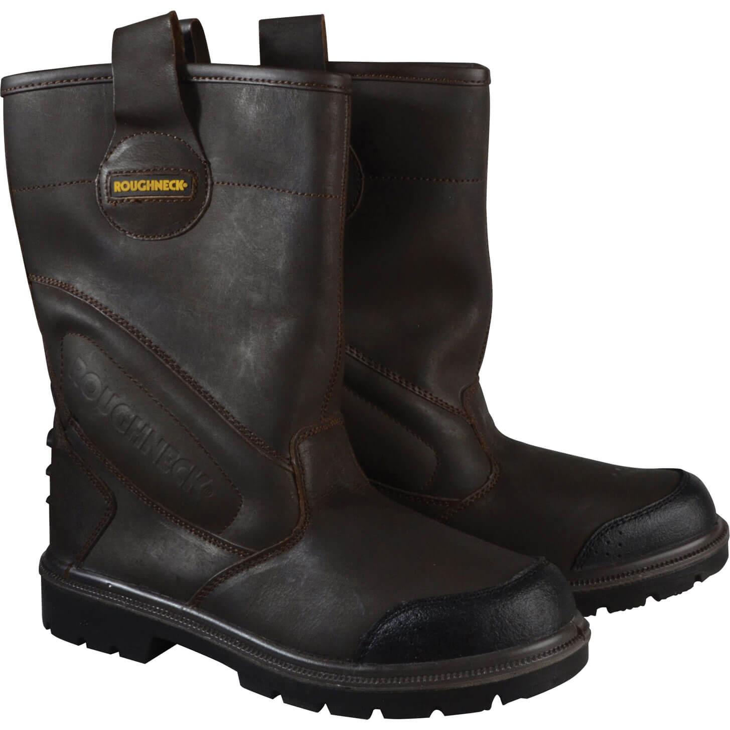 Roughneck Mens Hurricane Rigger Safety Boots Dark Brown Size 6