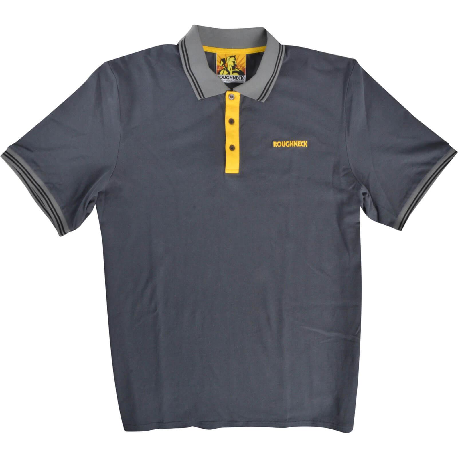 Roughneck Mens Polo Shirt Grey M