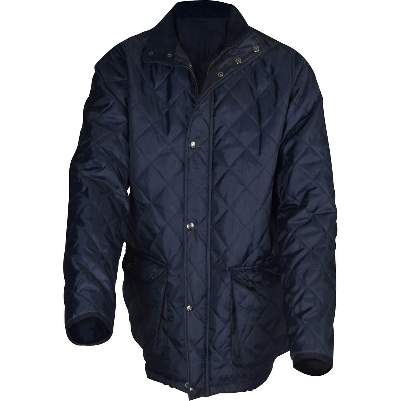 Roughneck Mens Quilted Jacket Blue M