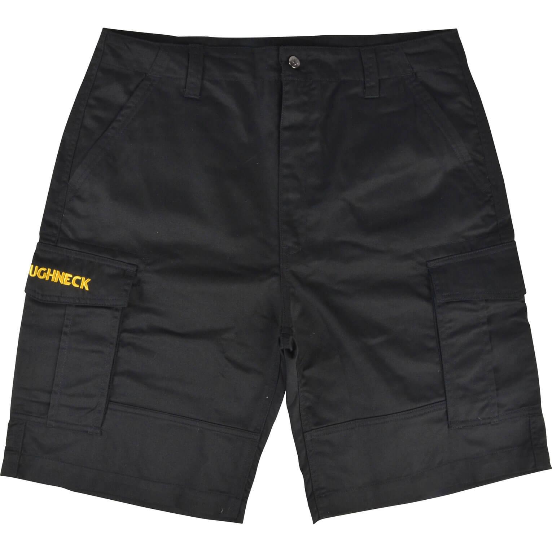 "Roughneck Mens Cargo Shorts Black 40"""