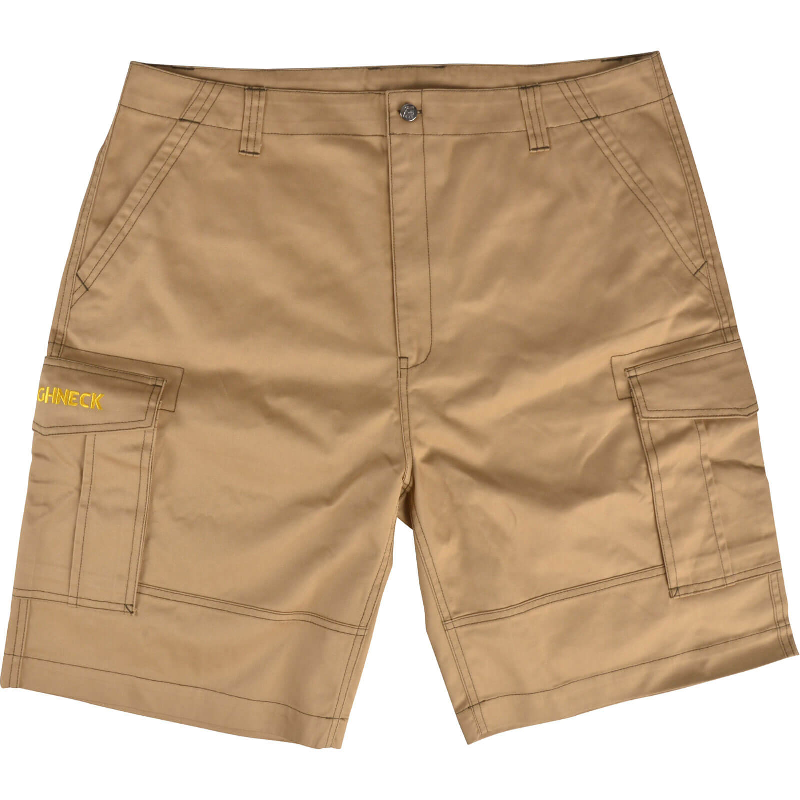 Roughneck Mens Cargo Shorts Khaki 36